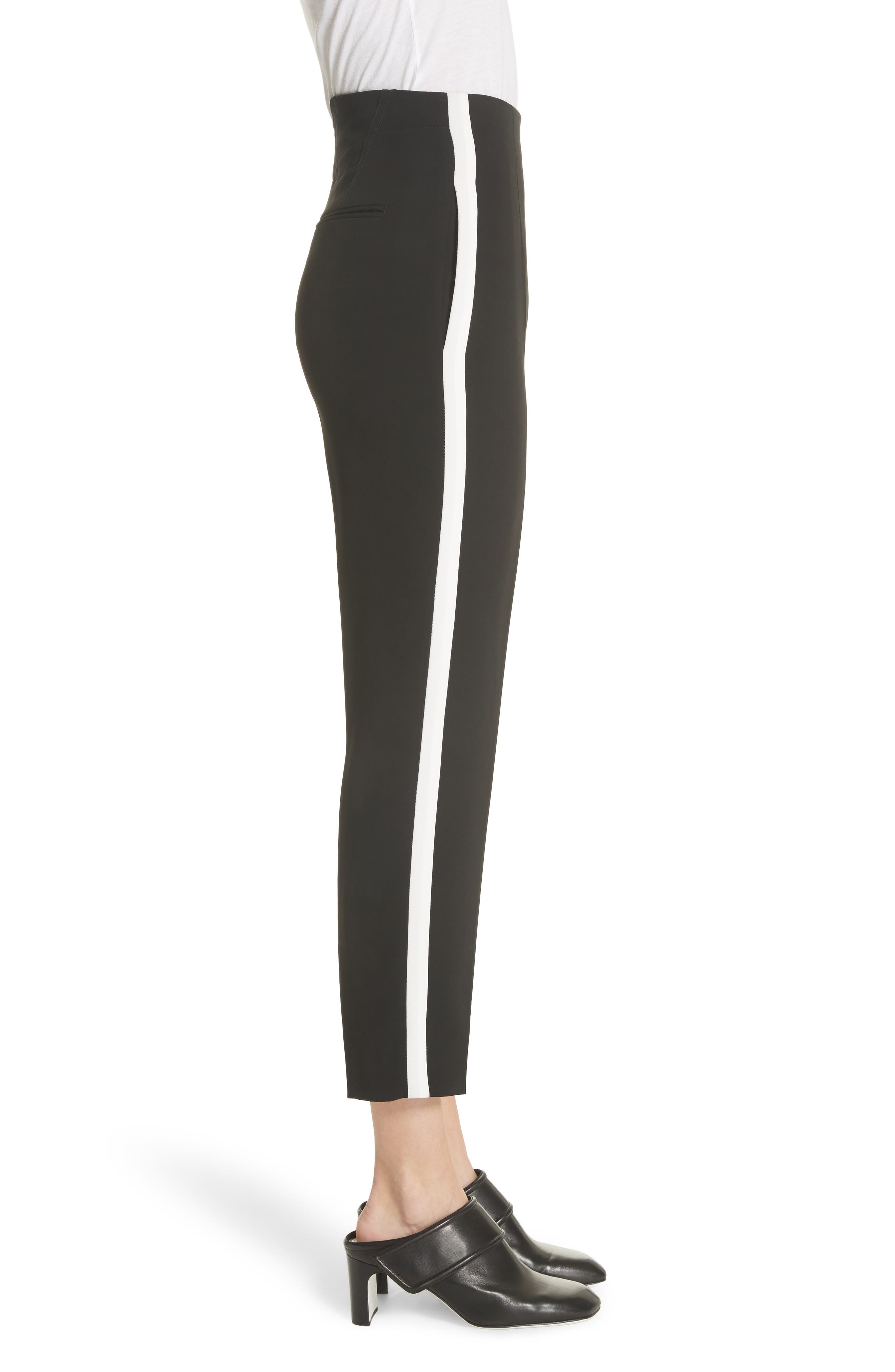 Elliot Side Stripe Pants,                             Alternate thumbnail 3, color,                             Black