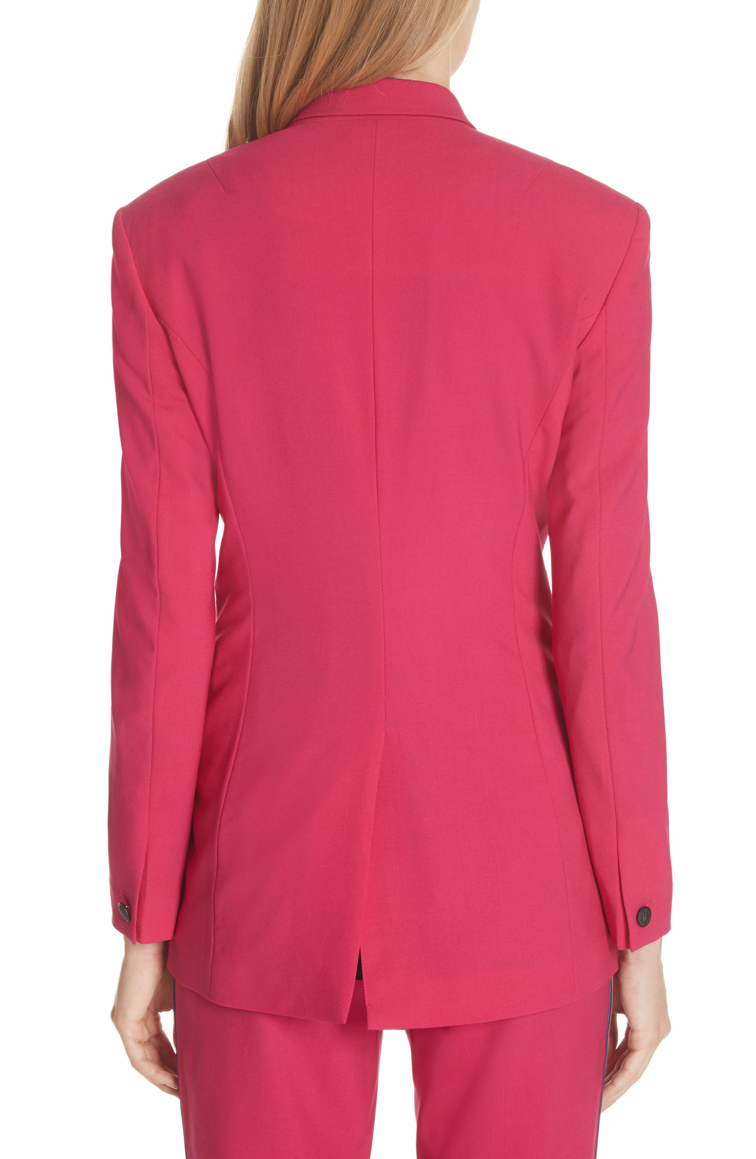 Ridley Stretch Wool Blazer,                             Alternate thumbnail 2, color,                             Pink