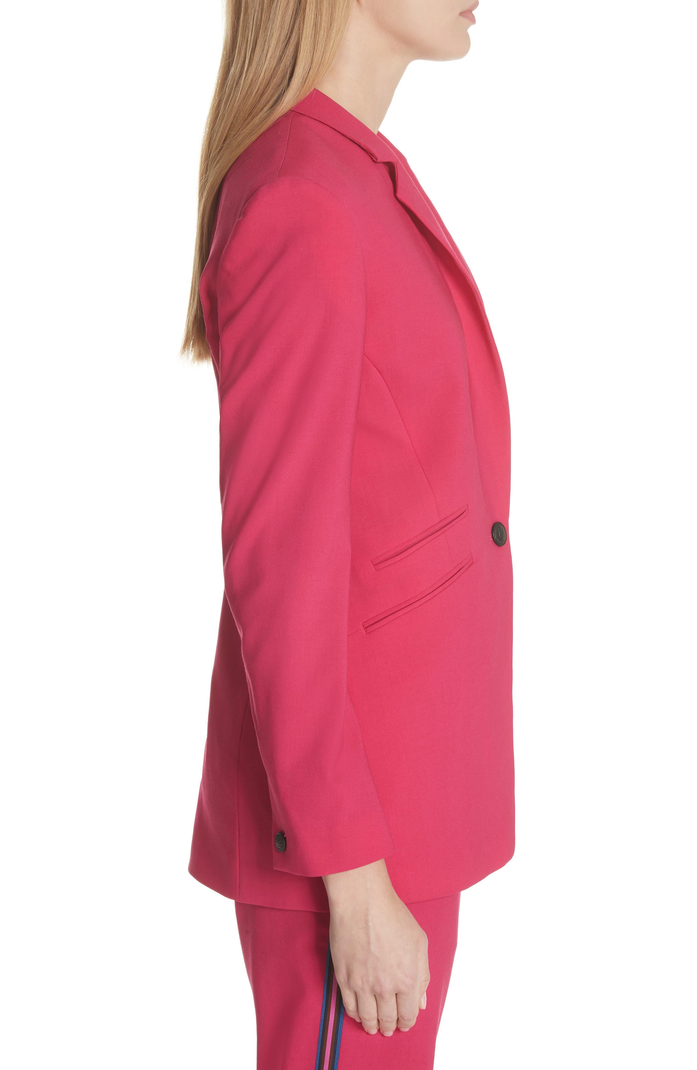 Ridley Stretch Wool Blazer,                             Alternate thumbnail 3, color,                             Pink