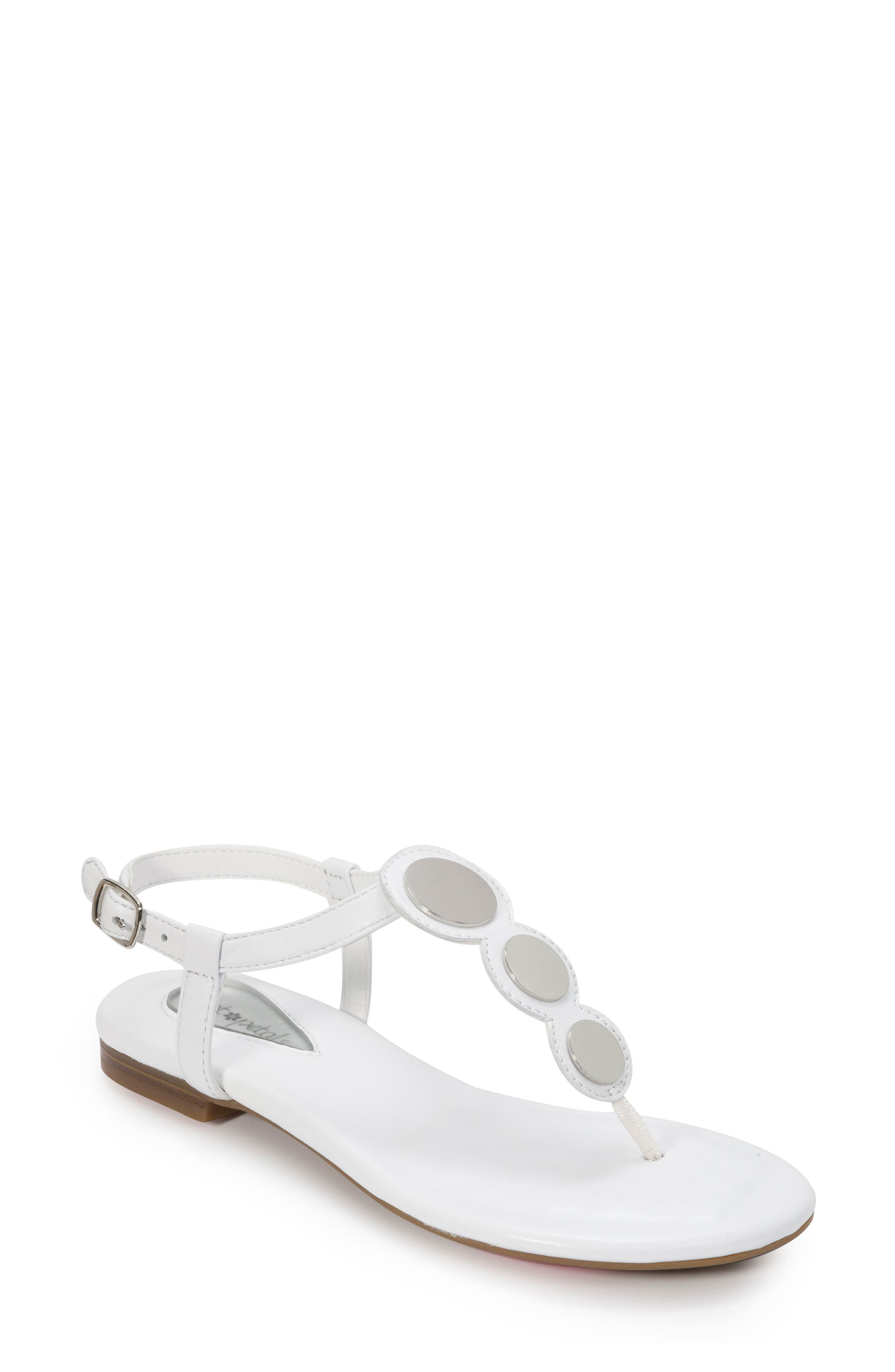 FOOT PETALS Ellie Sandal in White Leather