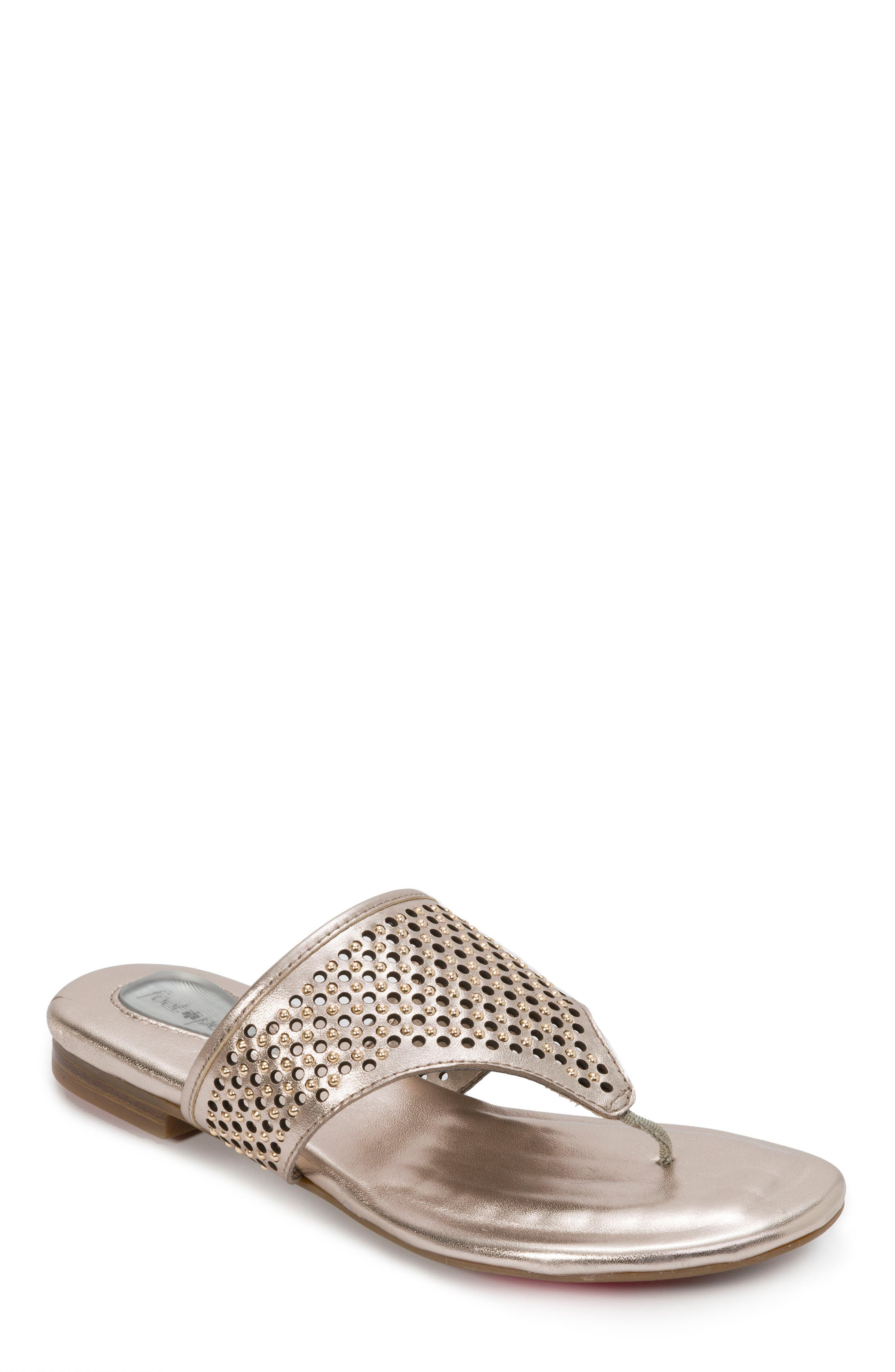 Evie Sandal,                         Main,                         color, Champagne Leather