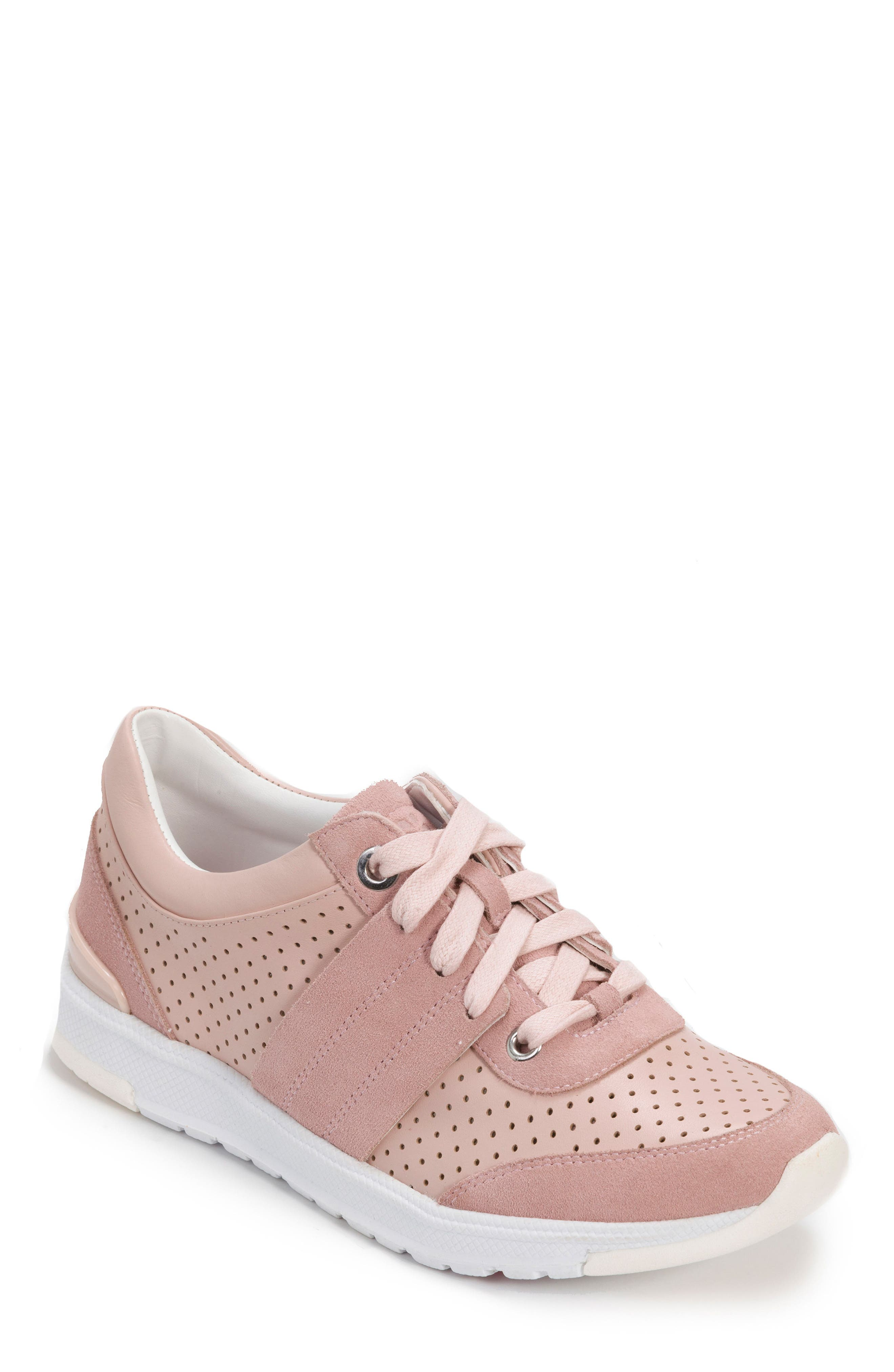 FOOT PETALS Bea Sneaker in Blush Leather