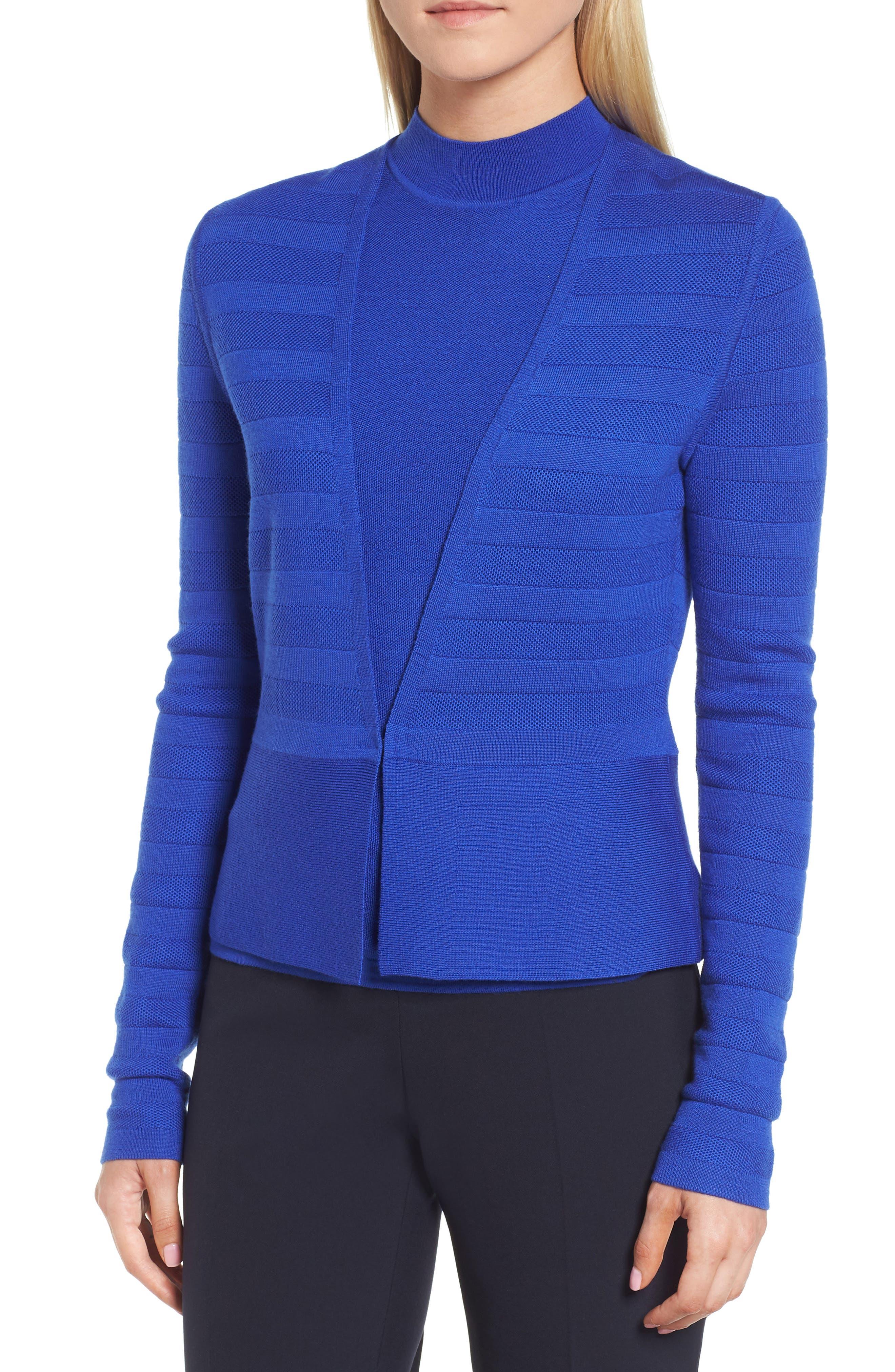 Farlotte Wool Cardigan,                         Main,                         color, Sailor Blue