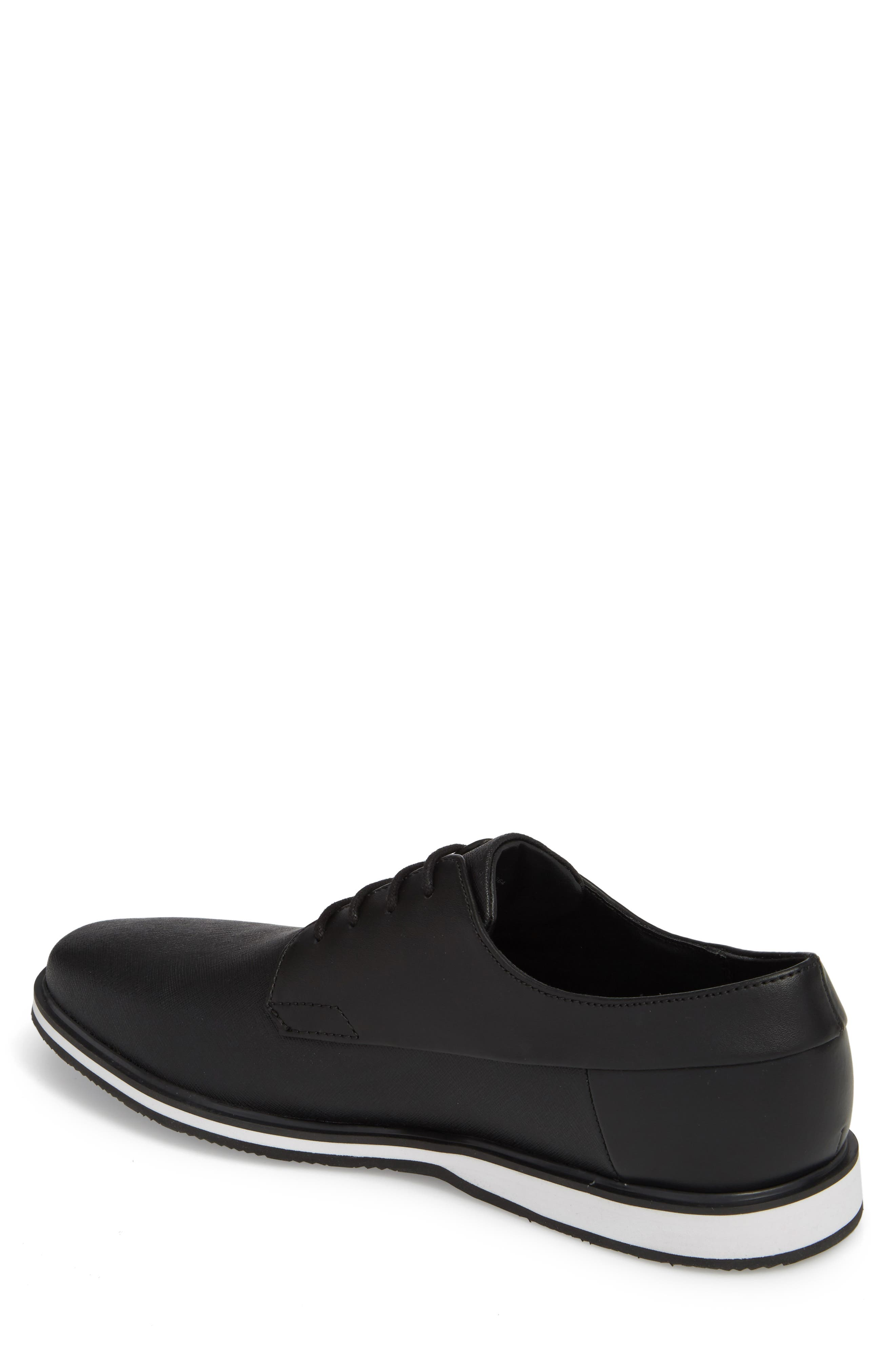 Wilfred Plain Toe Derby,                             Alternate thumbnail 2, color,                             Black