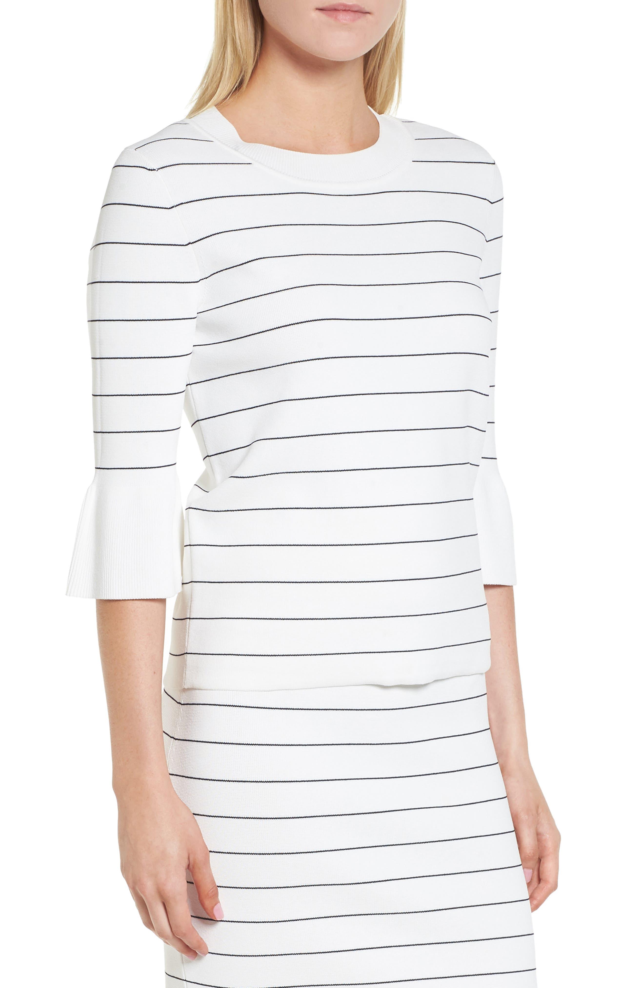 Fenella Stripe Sweater,                         Main,                         color, Vanilla Light Fantasy