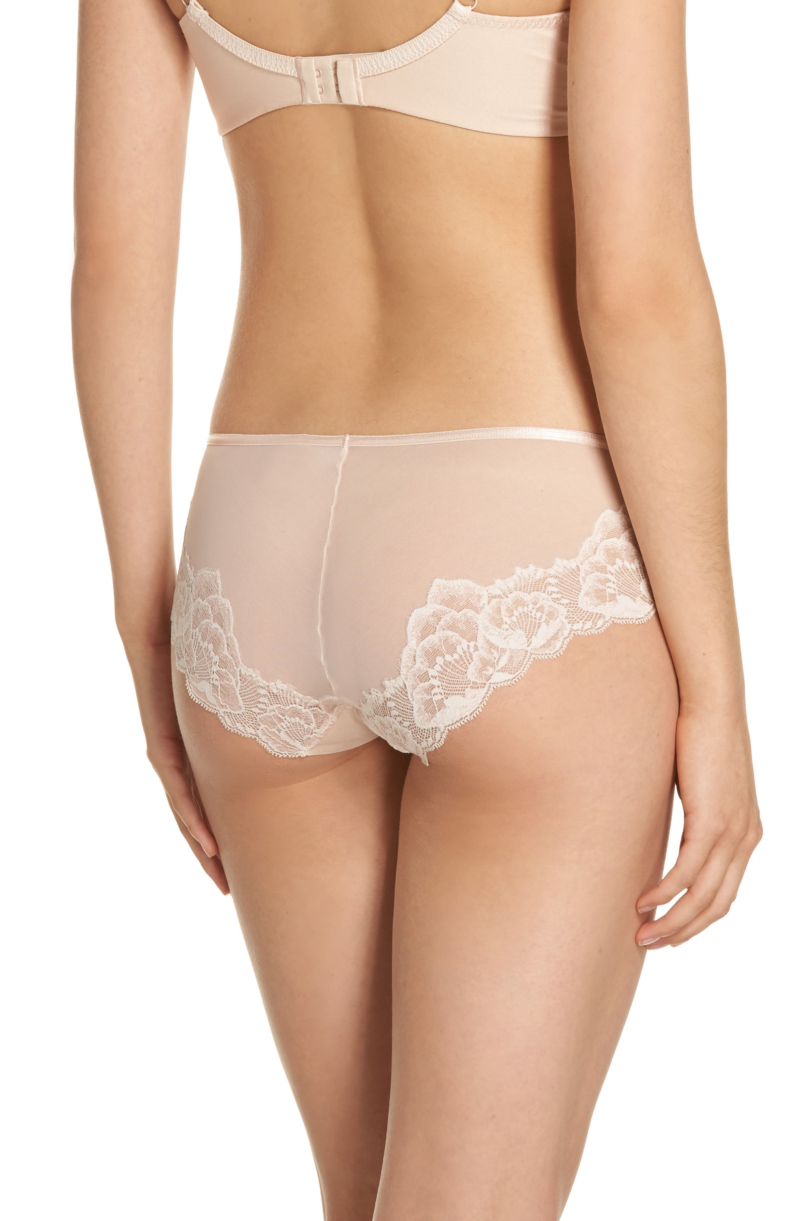 Orangerie Hipster Panties,                             Alternate thumbnail 2, color,                             Skin Rose