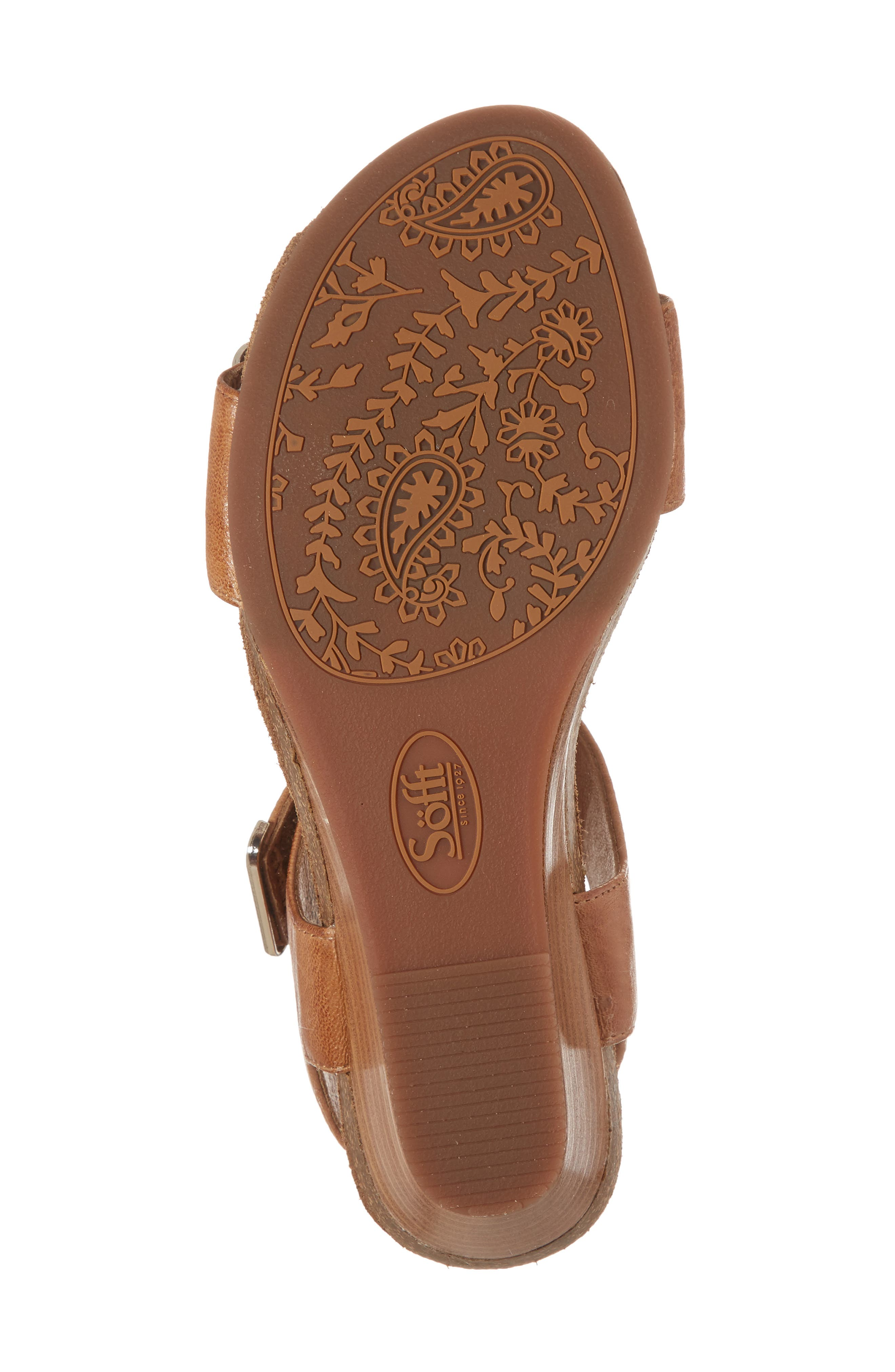 Verdi Wedge Sandal,                             Alternate thumbnail 6, color,                             Luggage Leather