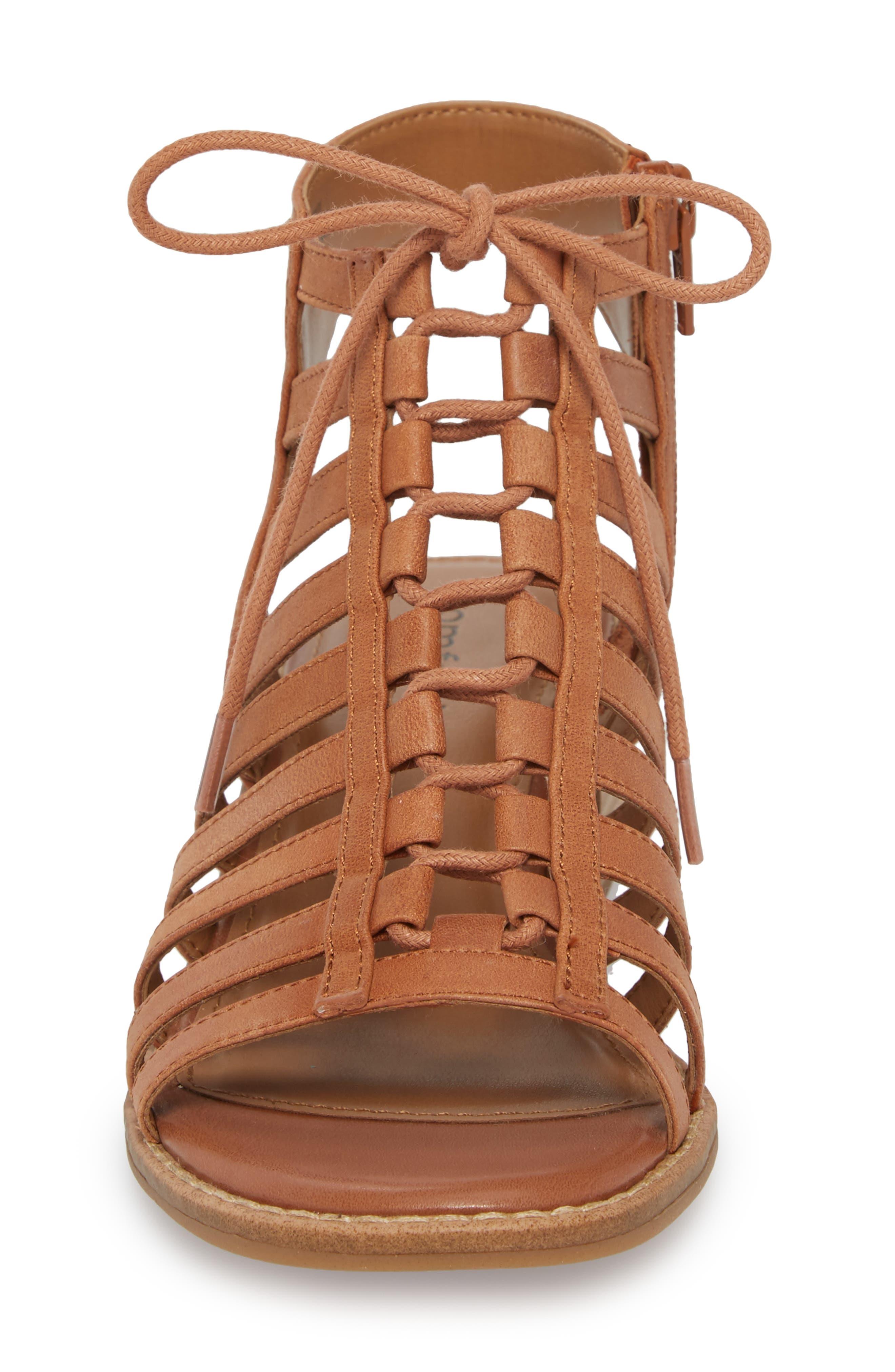 Blossom Sandal,                             Alternate thumbnail 4, color,                             Walnut Leather
