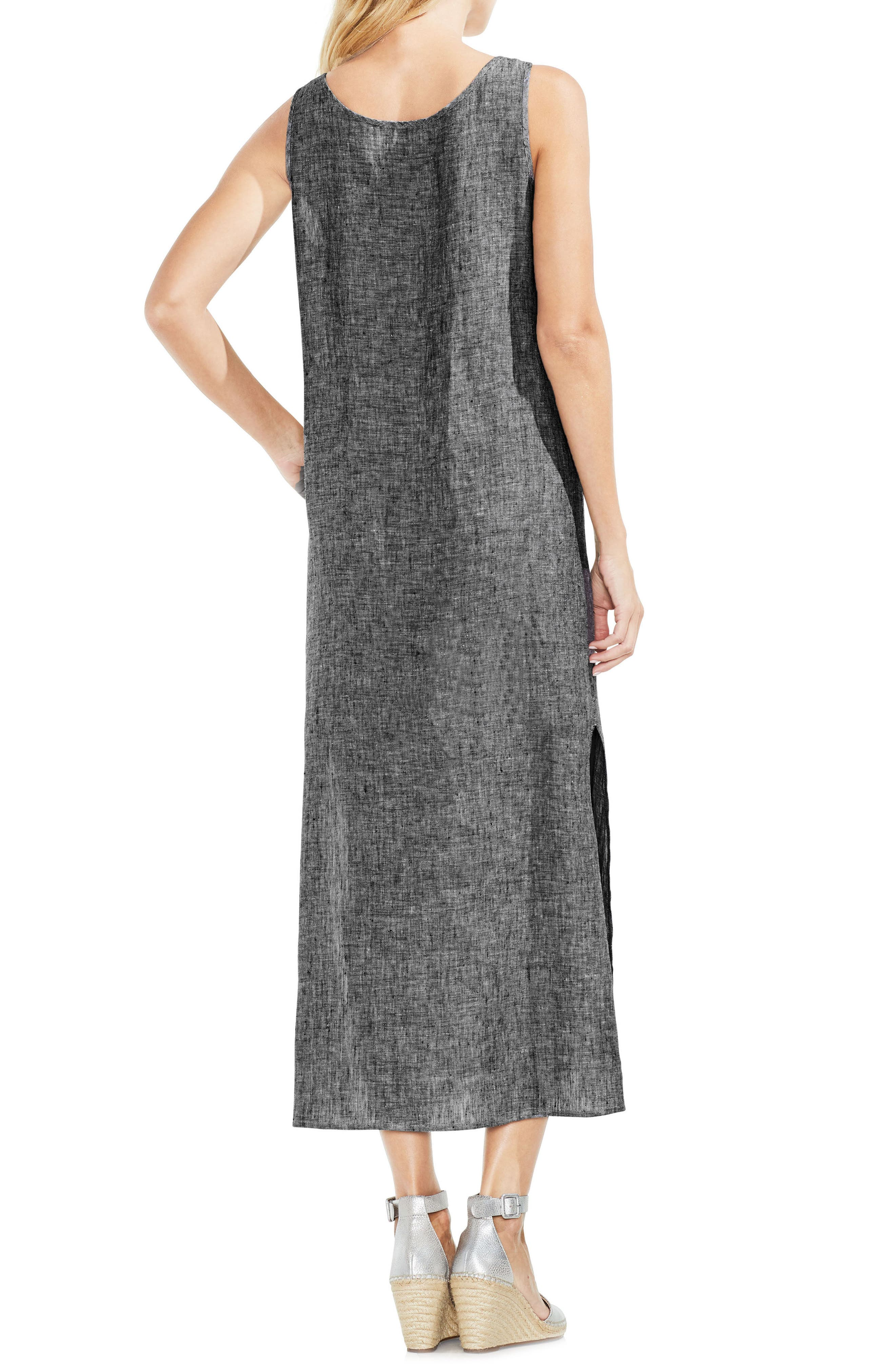 Cross Dye Sleeveless Maxi Dress,                             Alternate thumbnail 2, color,                             Rich Black