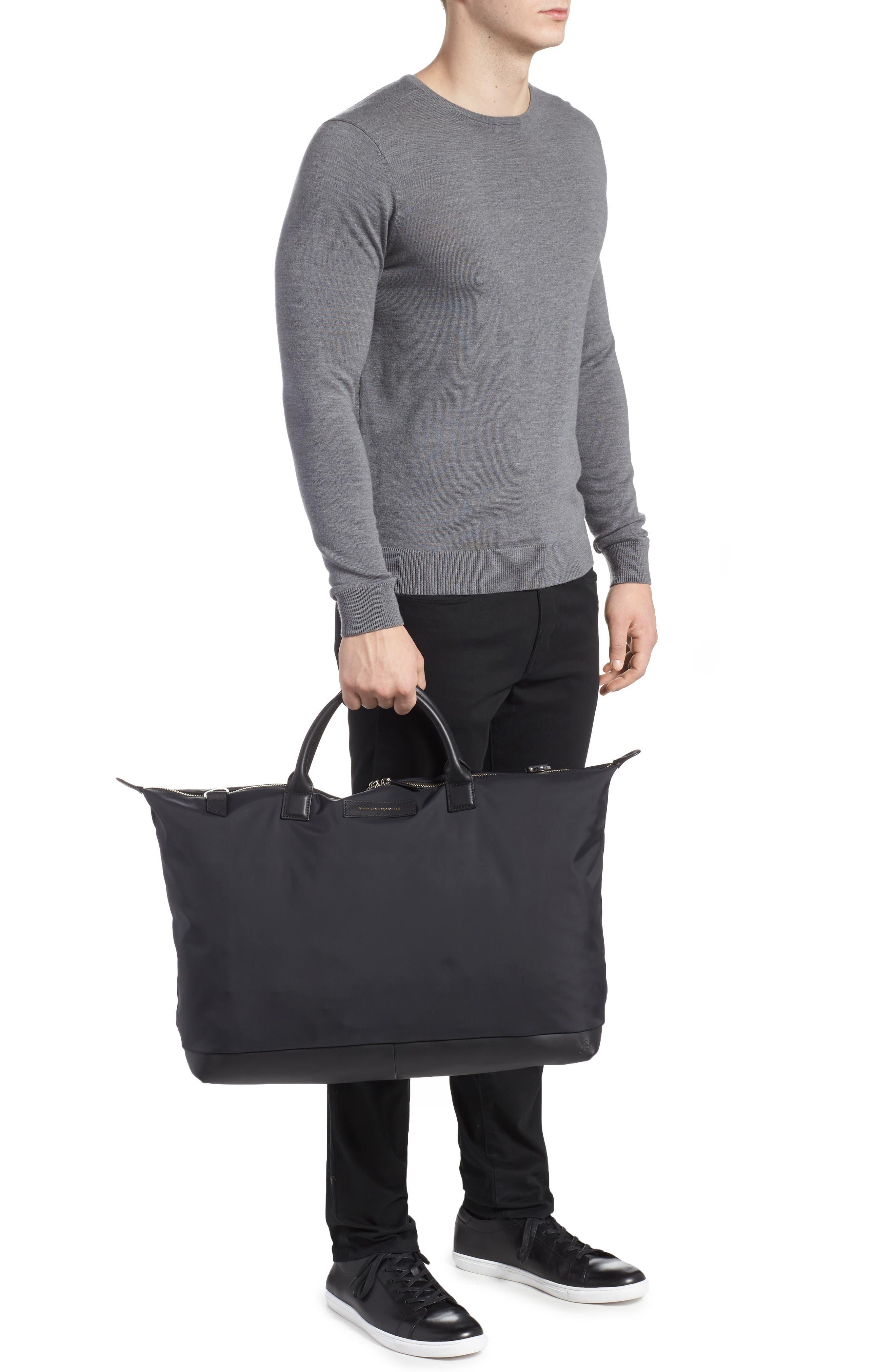 Hartsfield Nylon Tote Bag,                             Alternate thumbnail 2, color,                             Black Nylon