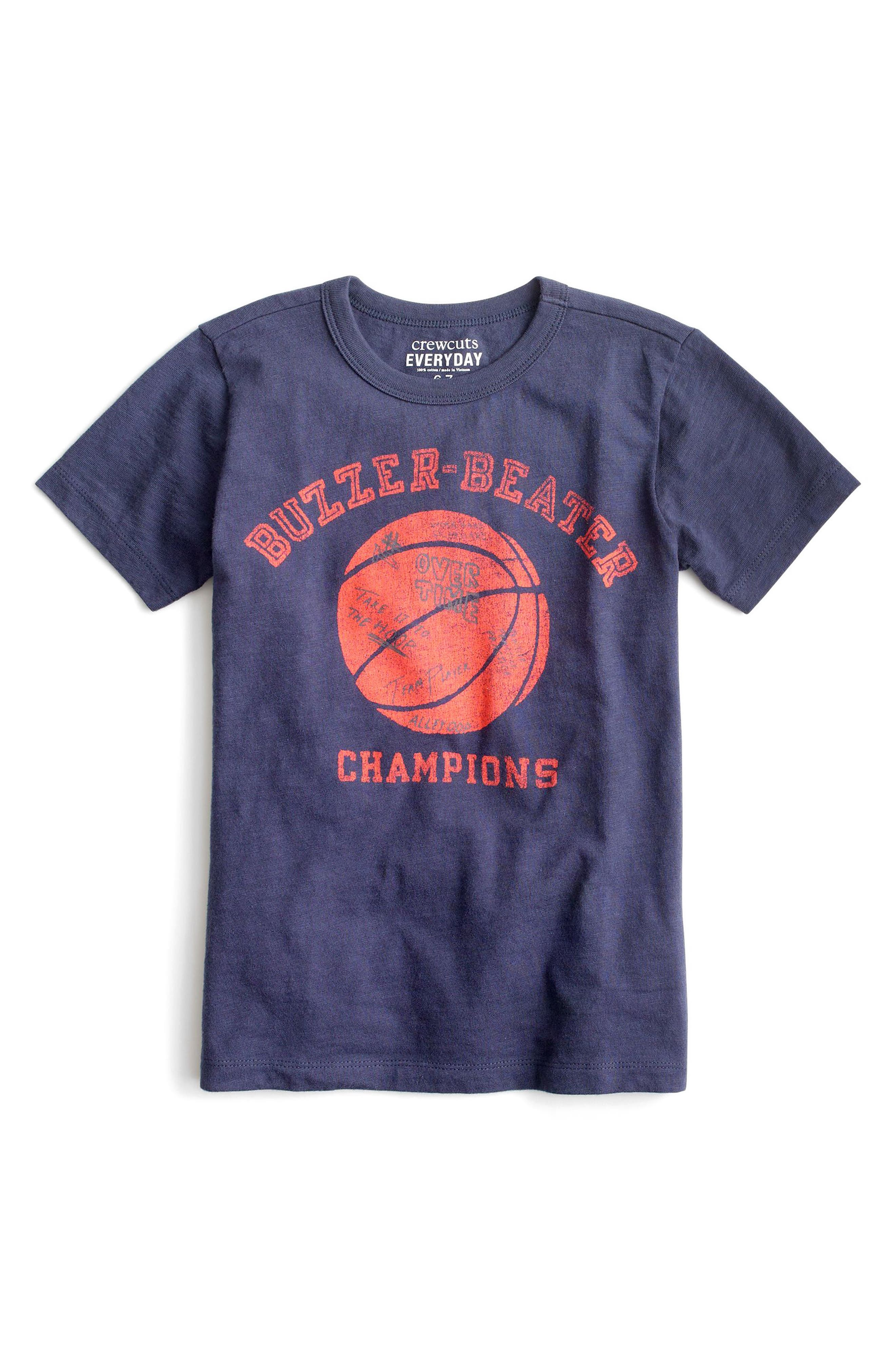 Buzzer Beater Graphic T-Shirt,                             Main thumbnail 1, color,                             Burnished Indigo