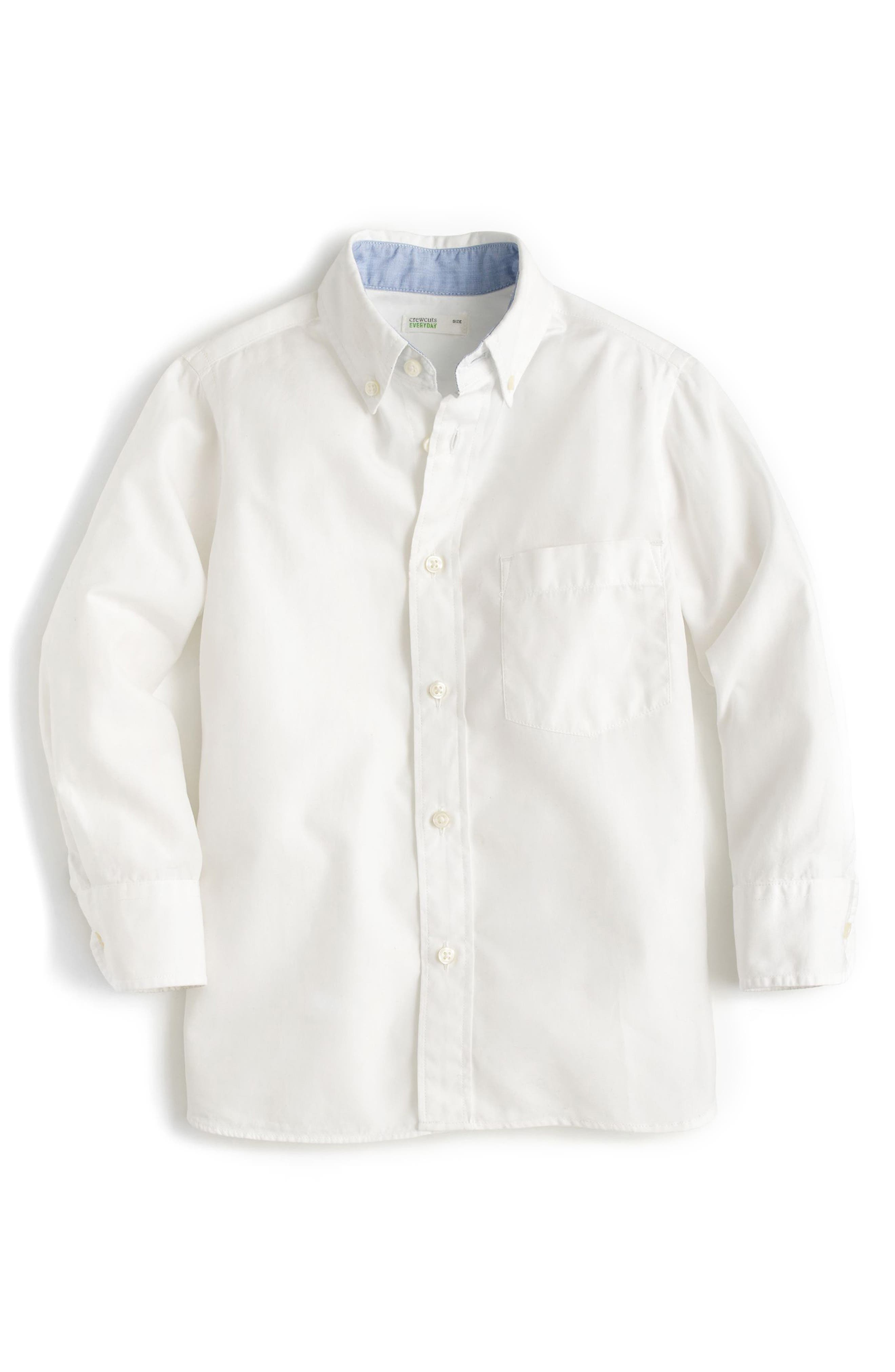 Everyday Button Down Sport Shirt,                         Main,                         color, White