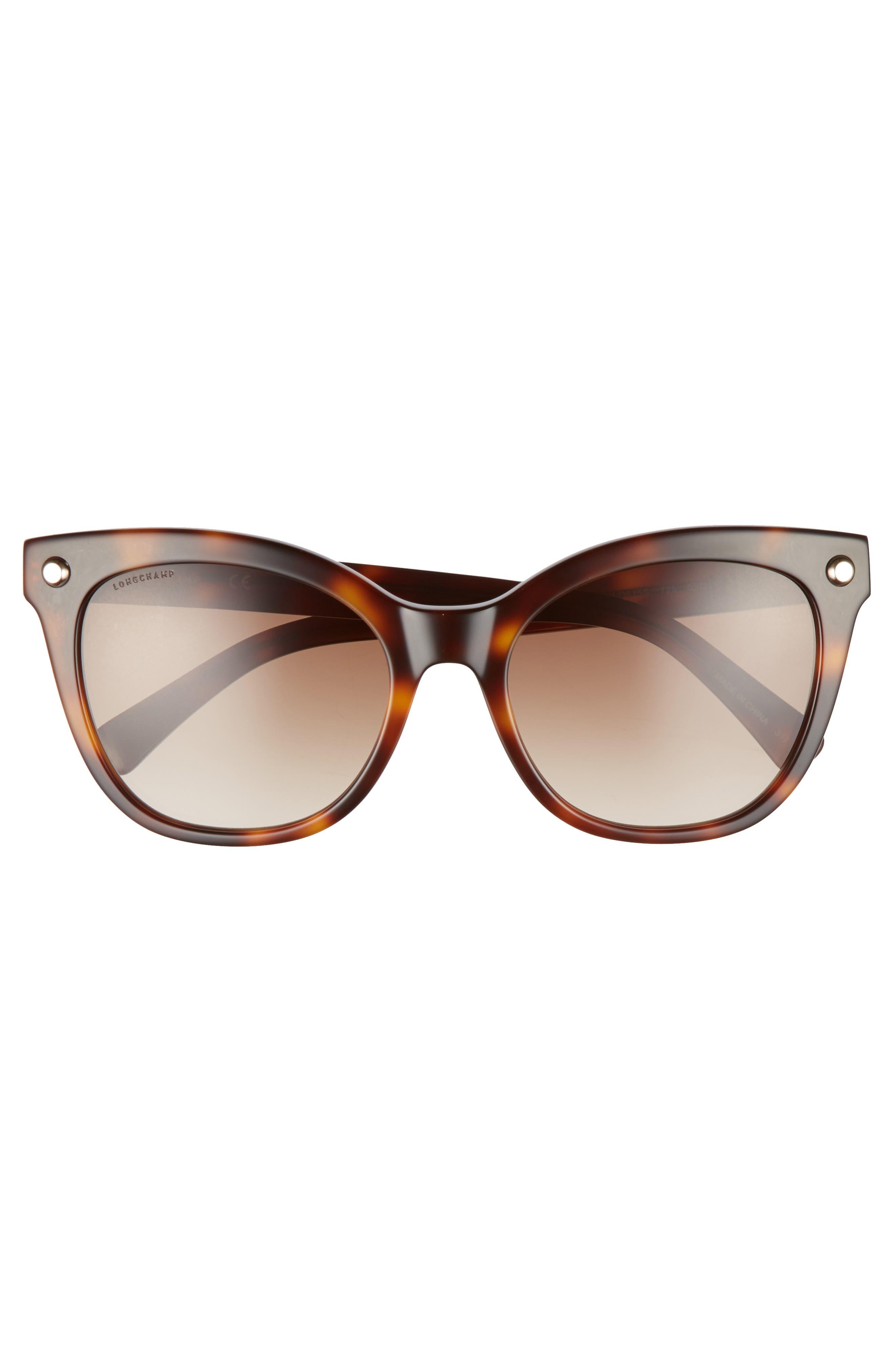 55mm Cat Eye Sunglasses,                             Alternate thumbnail 3, color,                             Blonde Havana