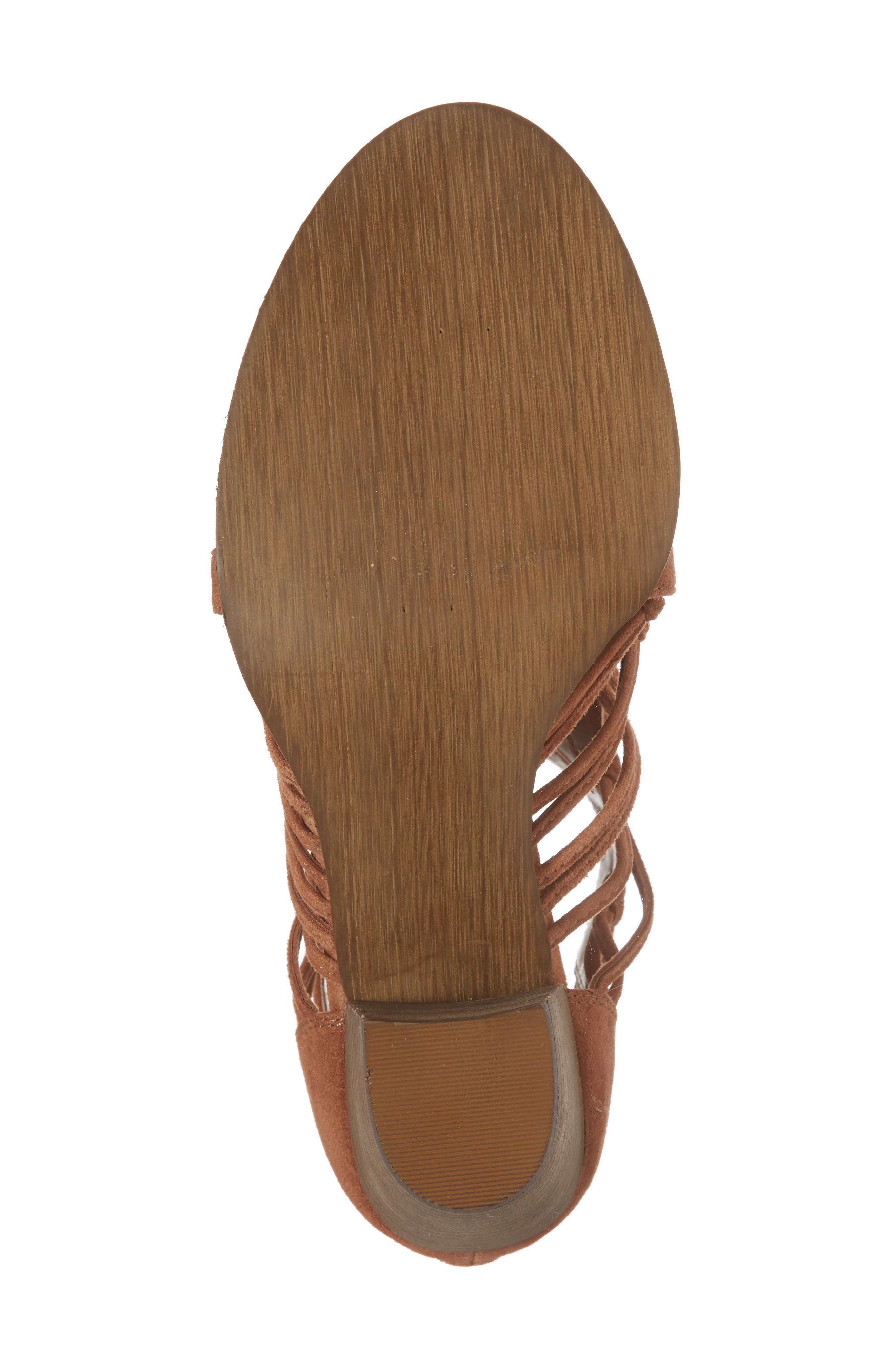 Kortez Block Heel Sandal,                             Alternate thumbnail 6, color,                             Dark Tan Suede