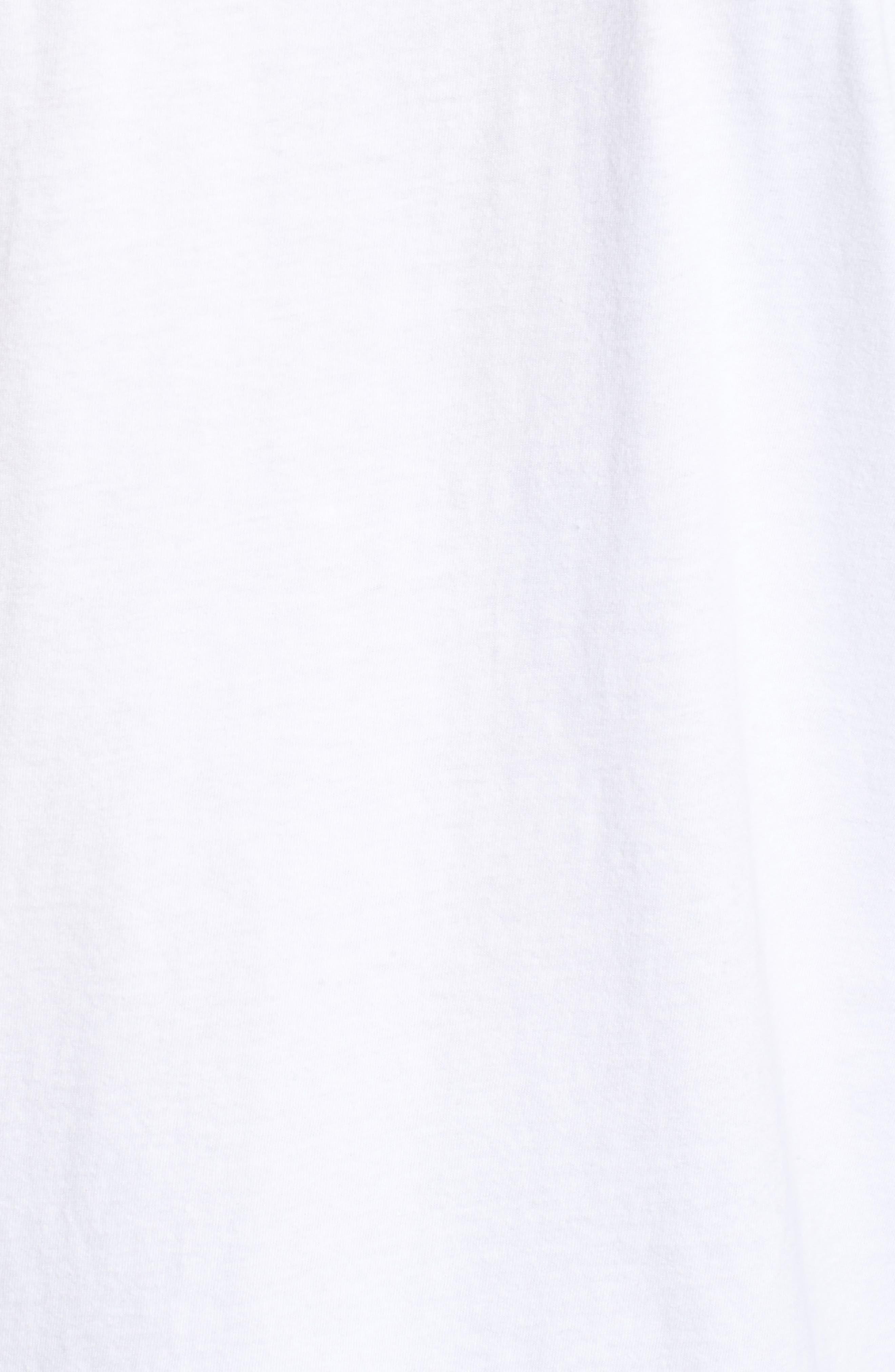 Wandering Eye Embroidered Long Sleeve T-Shirt,                             Alternate thumbnail 5, color,                             White