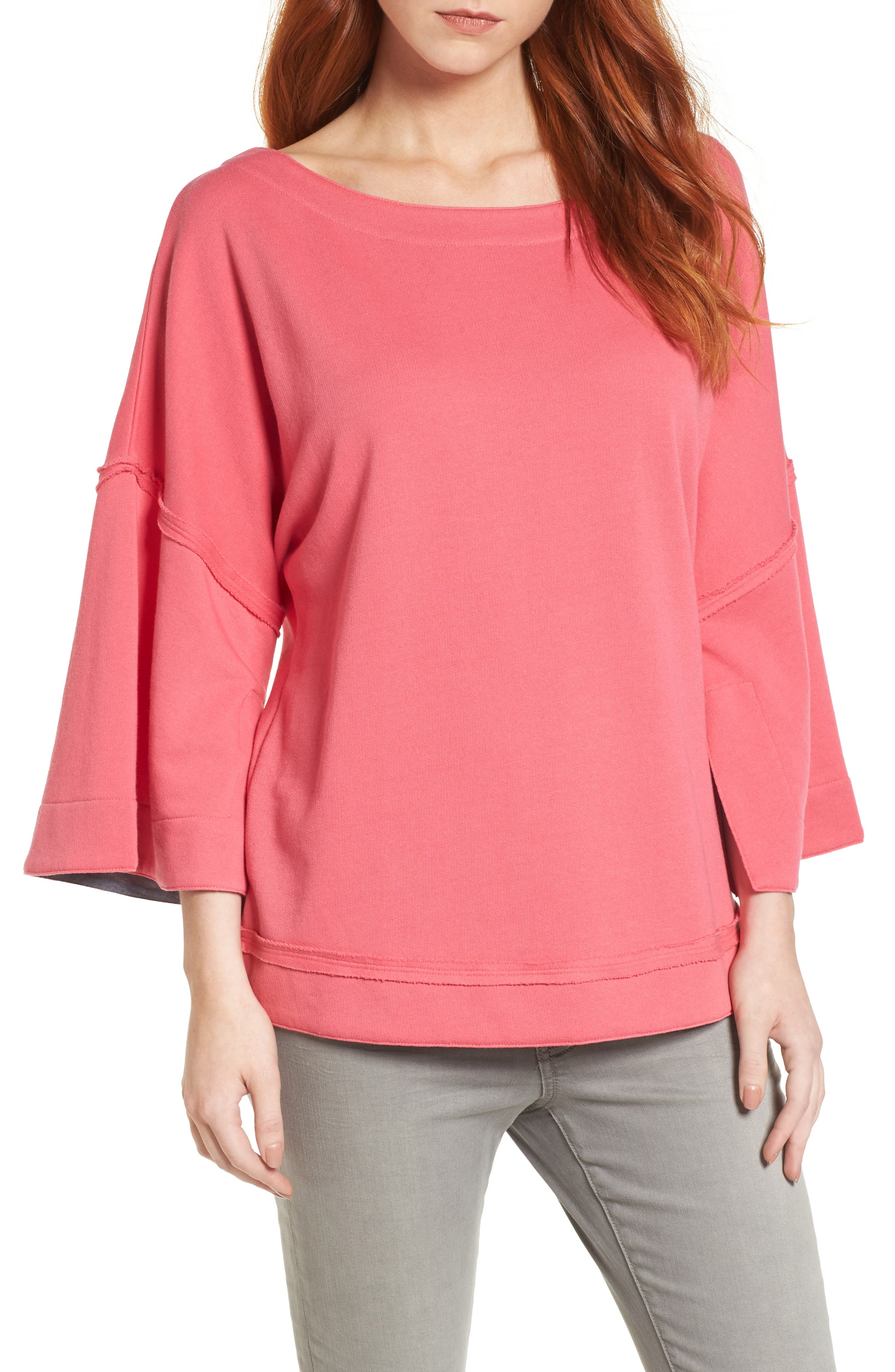 Caslon® Split Sleeve Sweatshirt