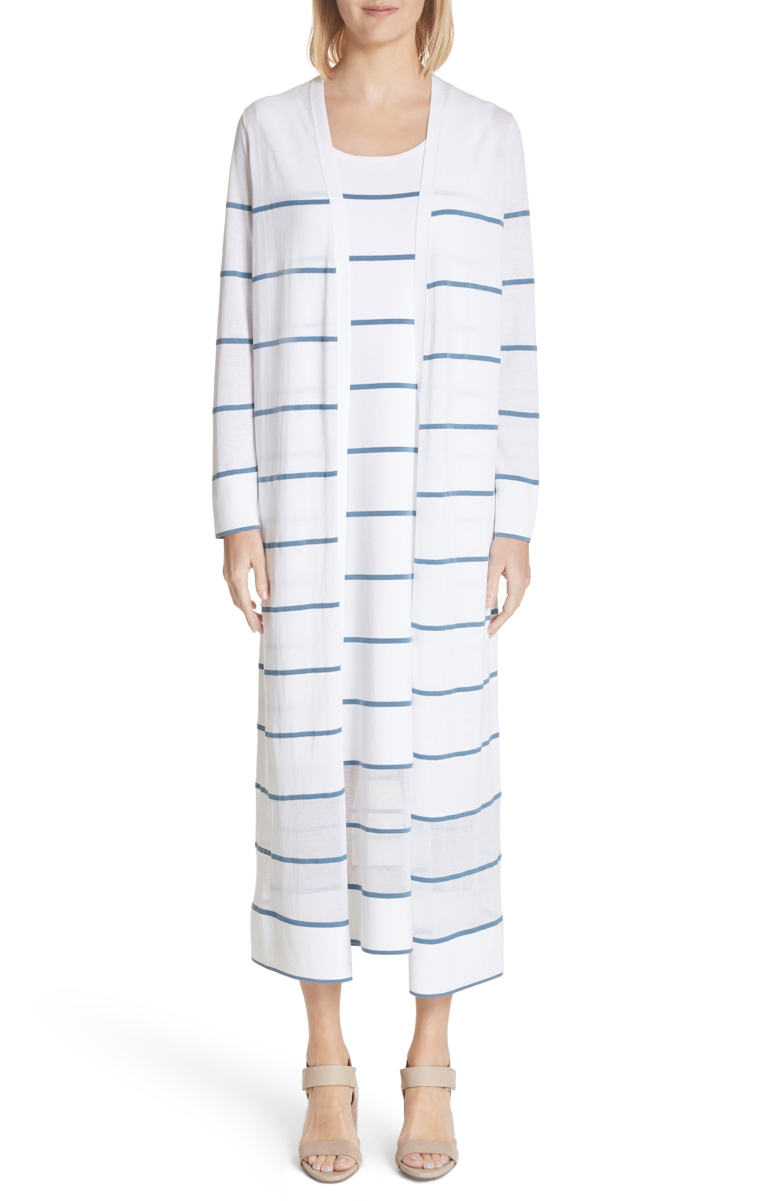 Stripe Sheer Hem Tank Dress,                             Alternate thumbnail 7, color,                             Placid Blue Multi
