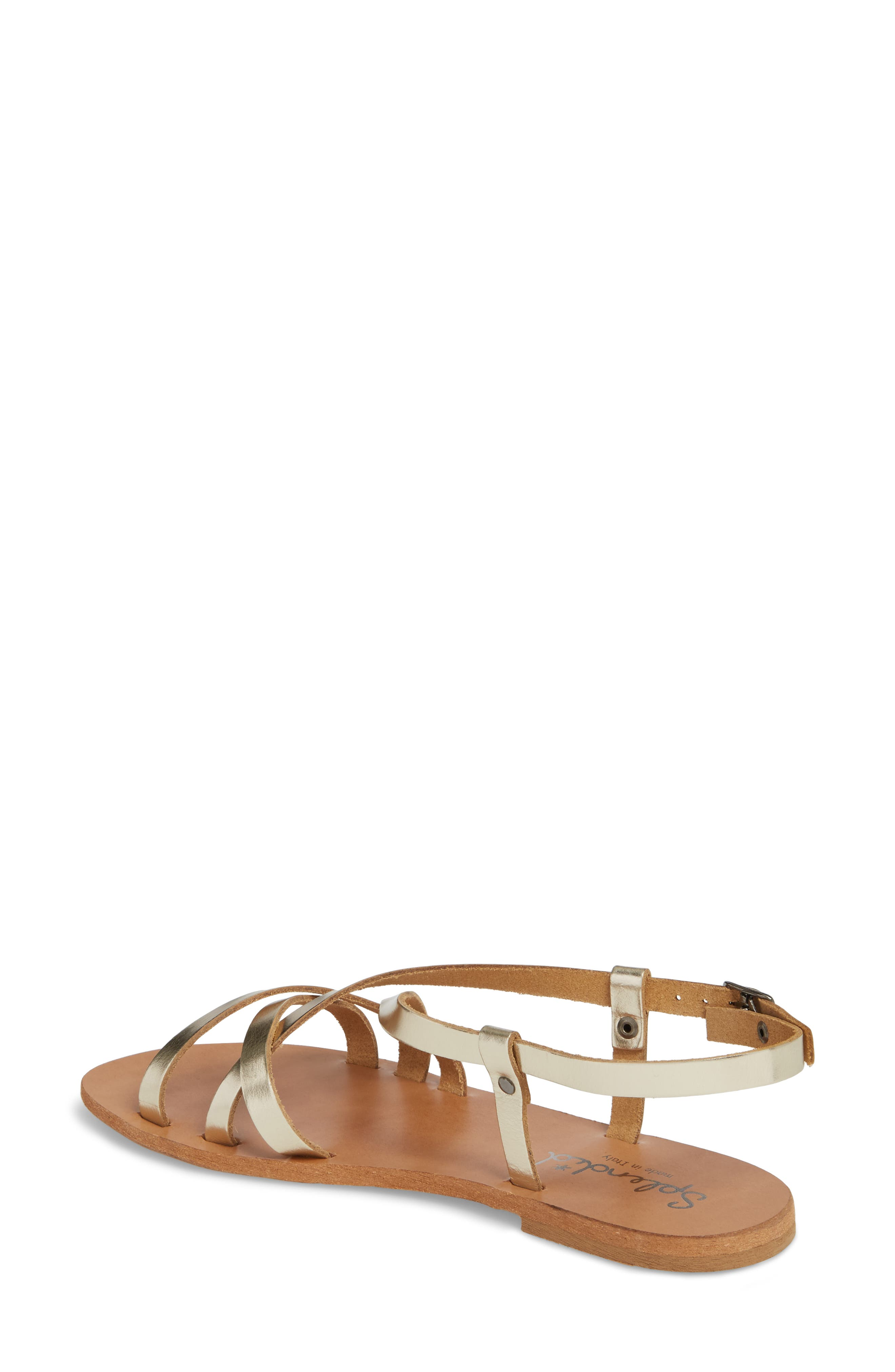Bowen Sandal,                             Alternate thumbnail 2, color,                             Platino Leather