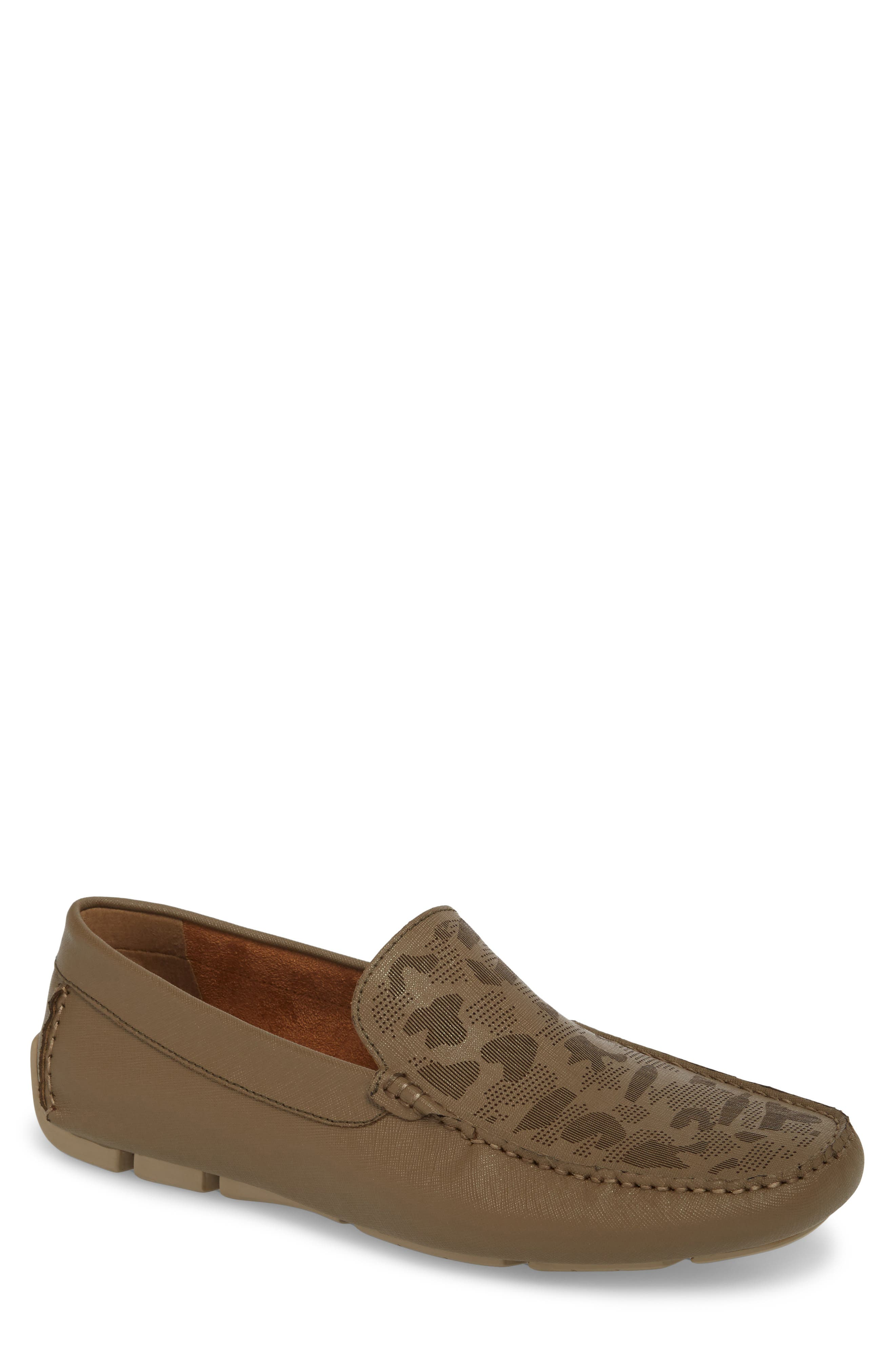 Theme Song Driving Shoe,                             Main thumbnail 1, color,                             Taupe Leather
