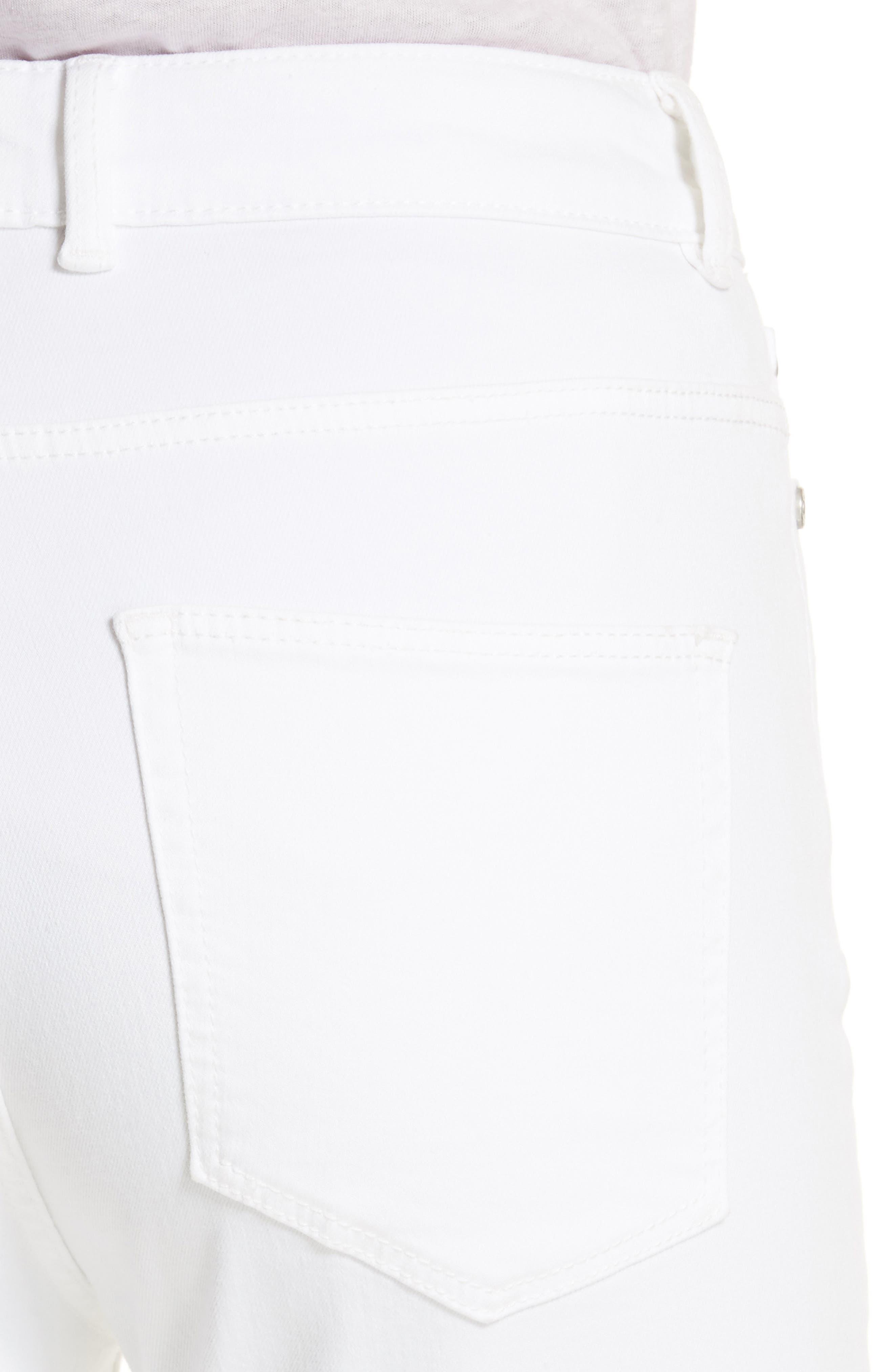 Clemence Crop Jeans,                             Alternate thumbnail 4, color,                             Milk