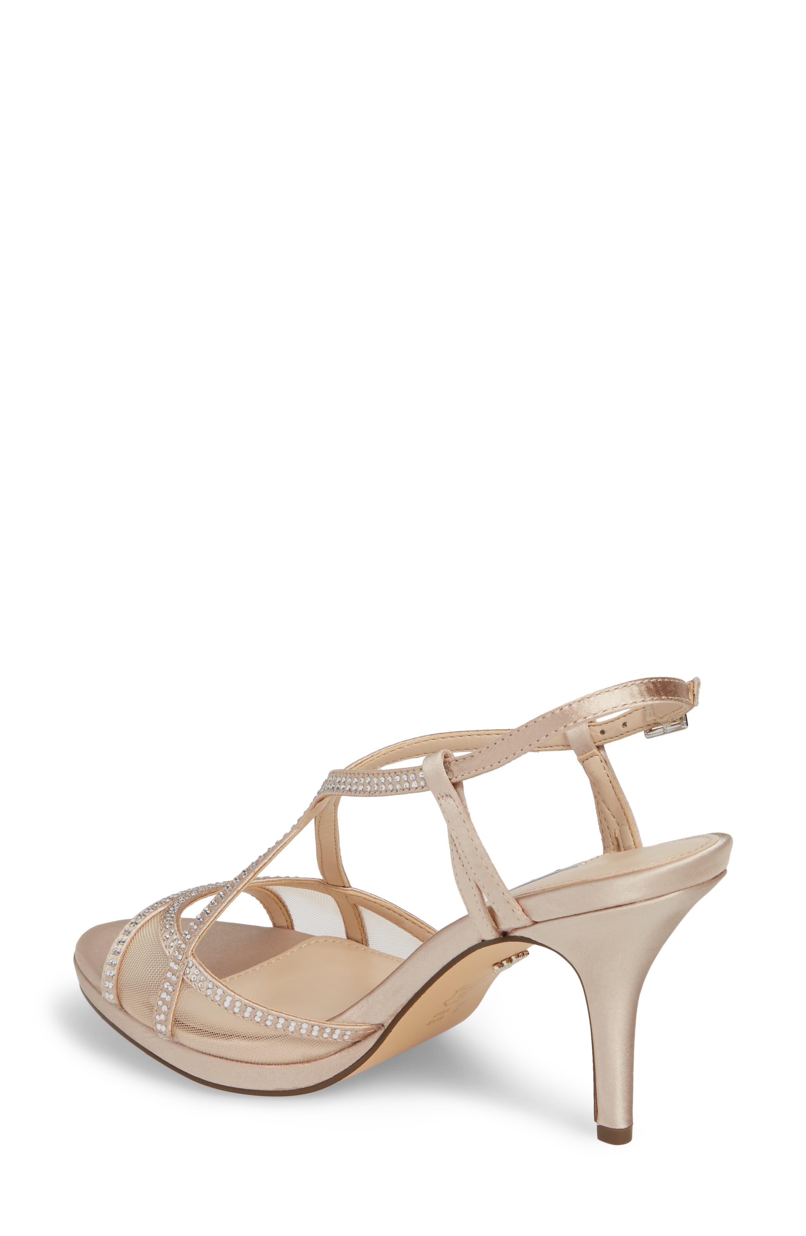 Alternate Image 2  - Nina Blossom Crystal Embellished Sandal (Women)