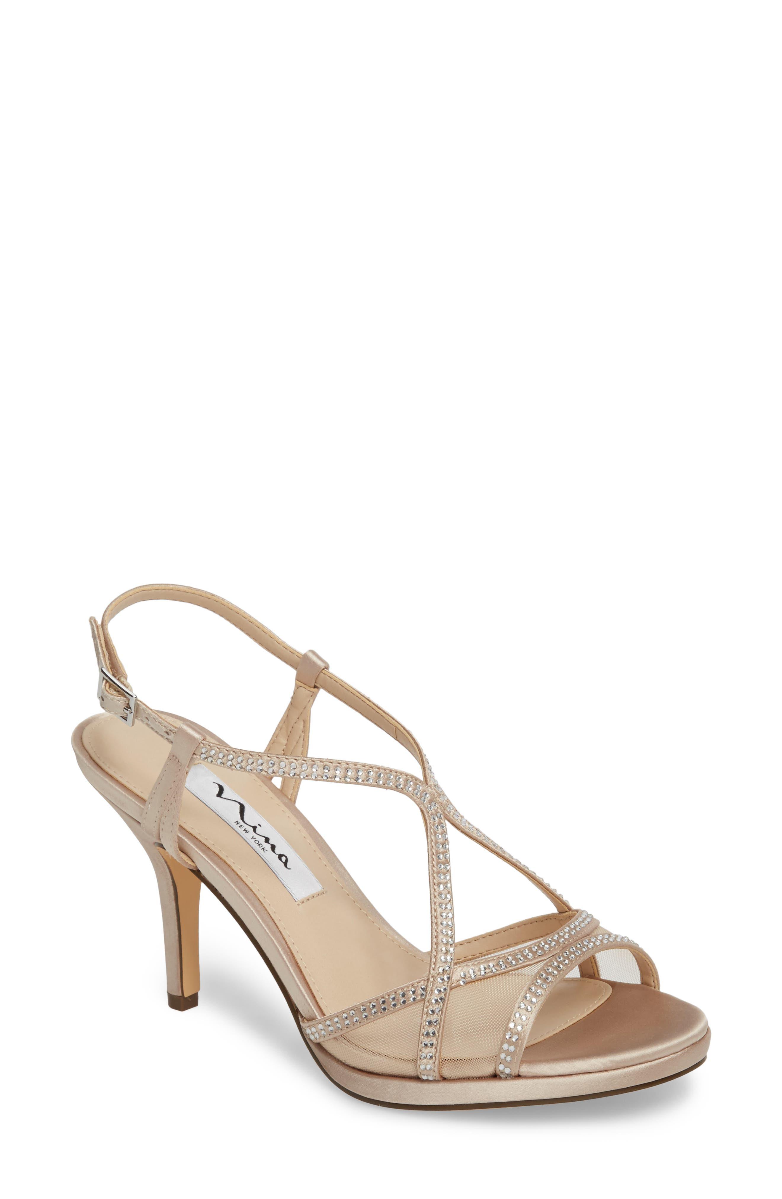 Main Image - Nina Blossom Crystal Embellished Sandal (Women)