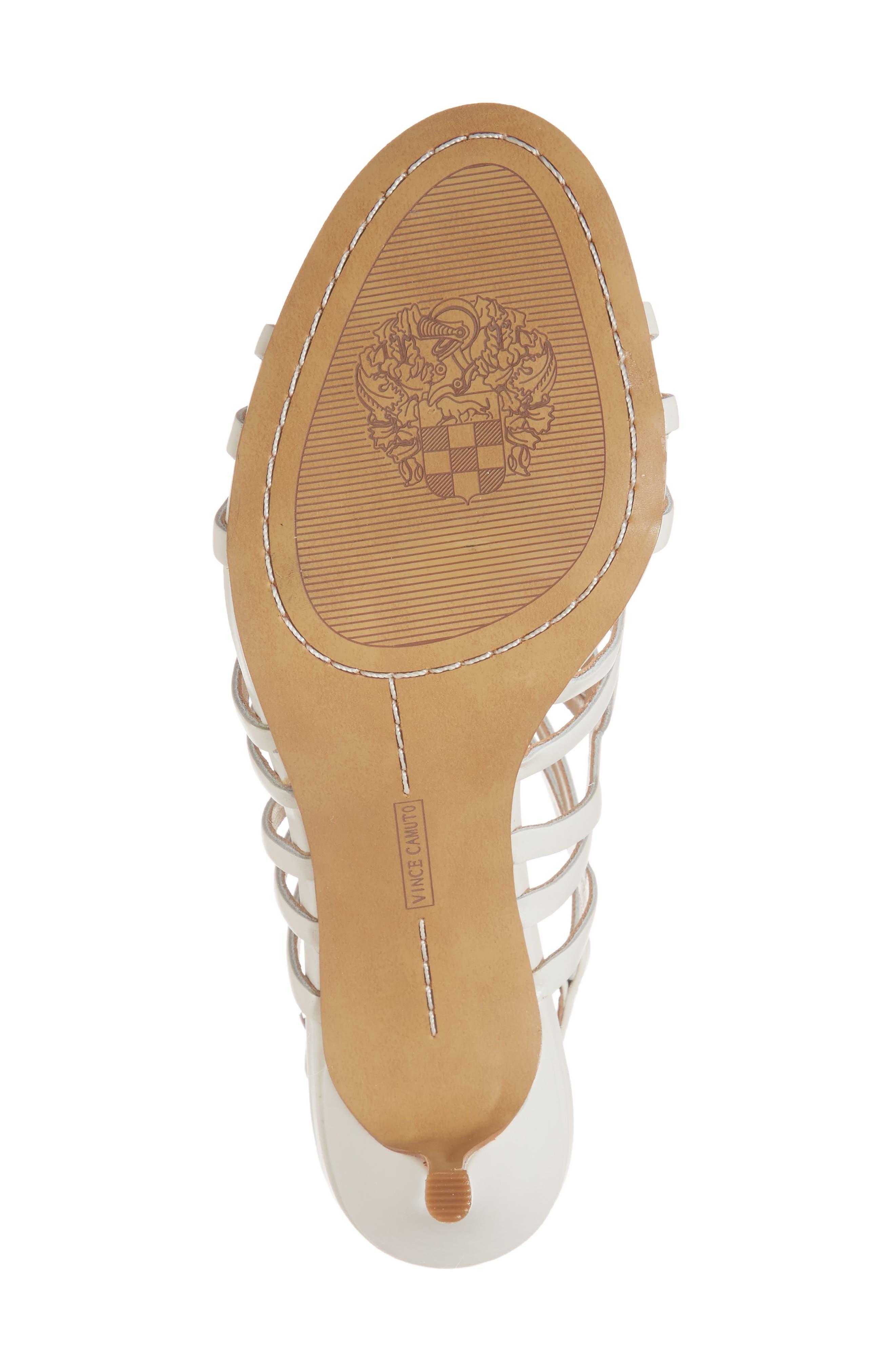Petina Sandal,                             Alternate thumbnail 6, color,                             White Leather