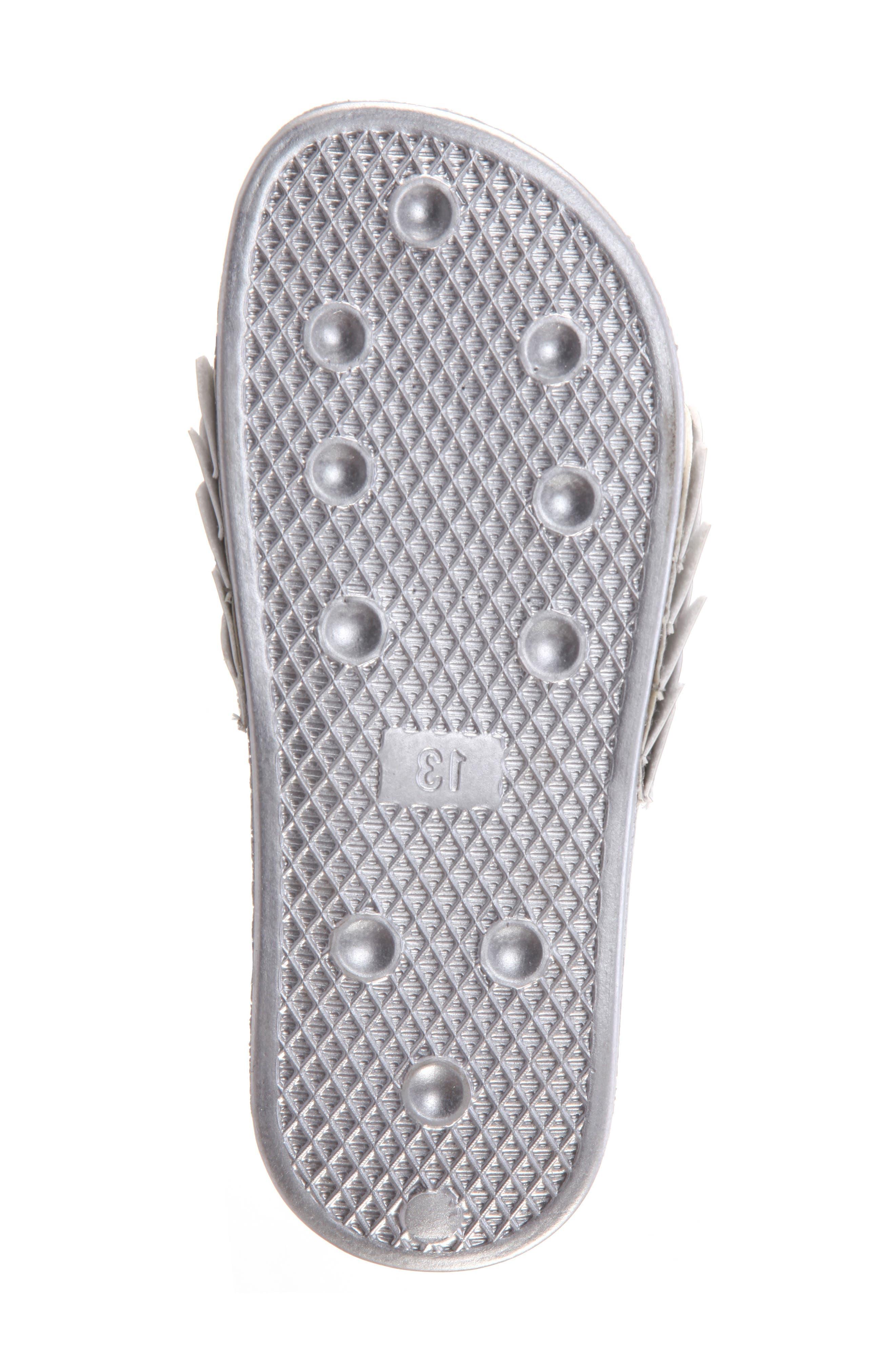 Mermaid Sport Slide Sandal,                             Alternate thumbnail 6, color,                             Silver Mirror Metallic