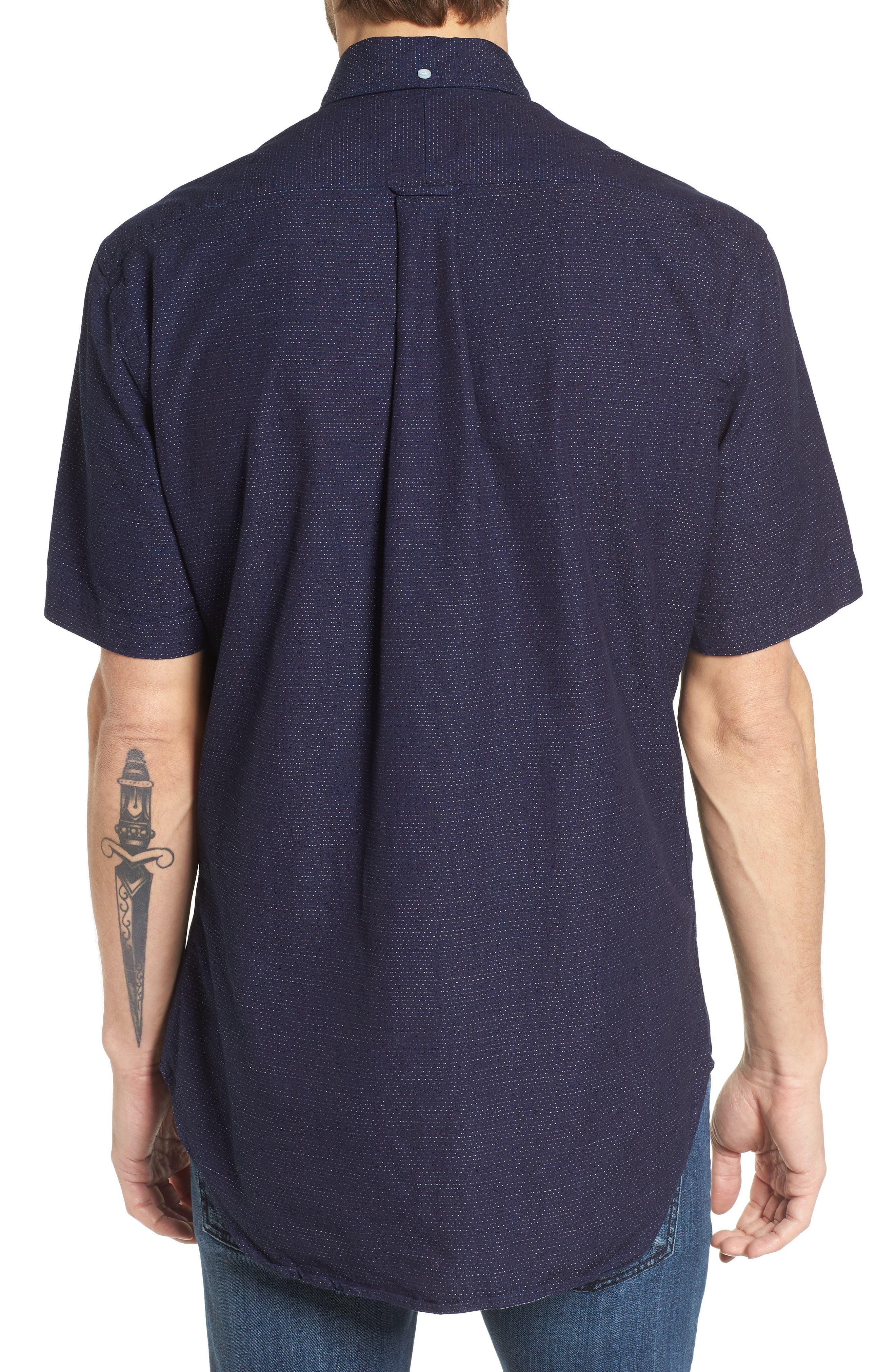 Camp Shirt,                             Alternate thumbnail 3, color,                             Navy
