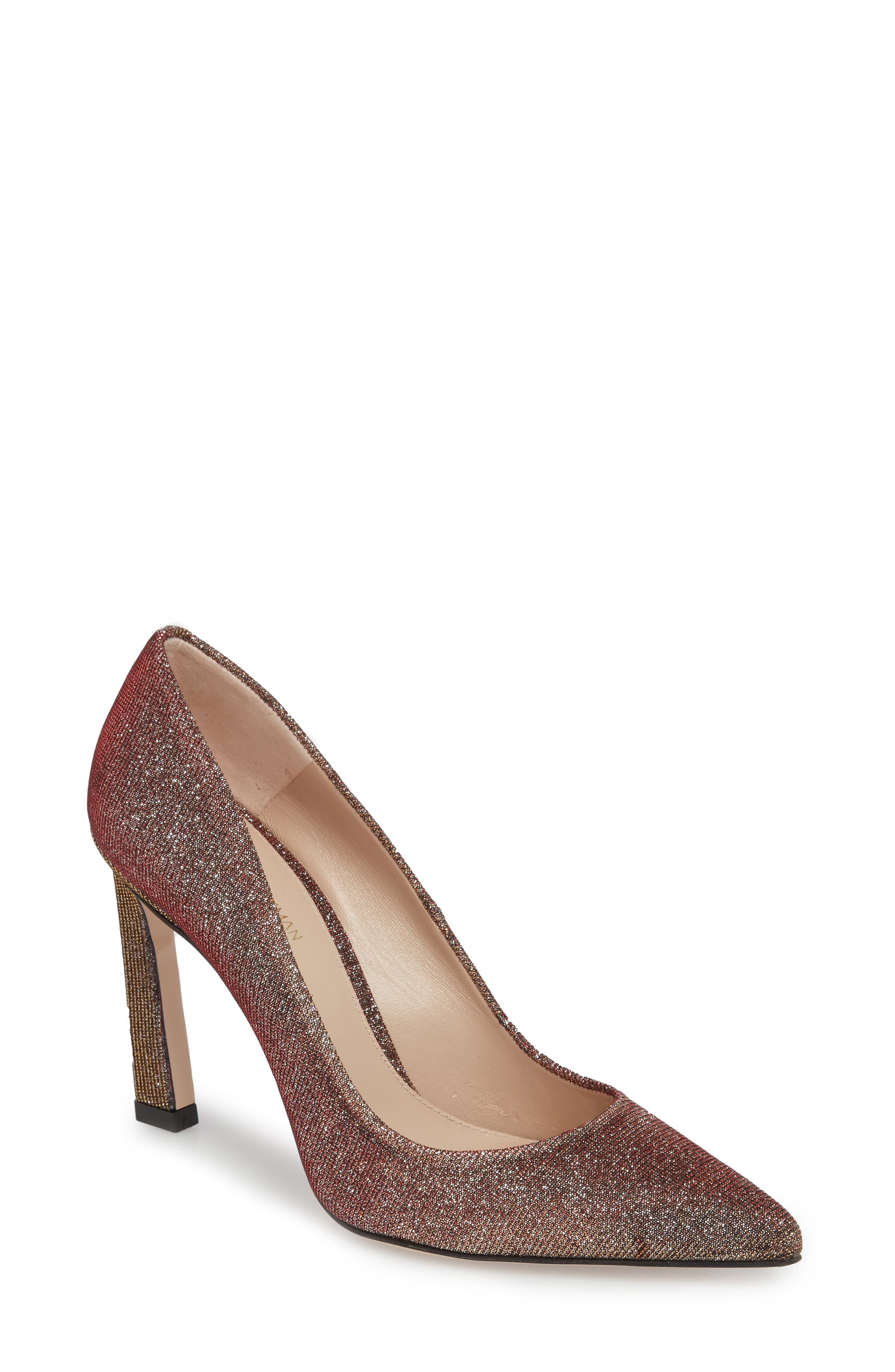 Chicster Pointy Toe Pump,                             Main thumbnail 1, color,                             Bronze Nighttime