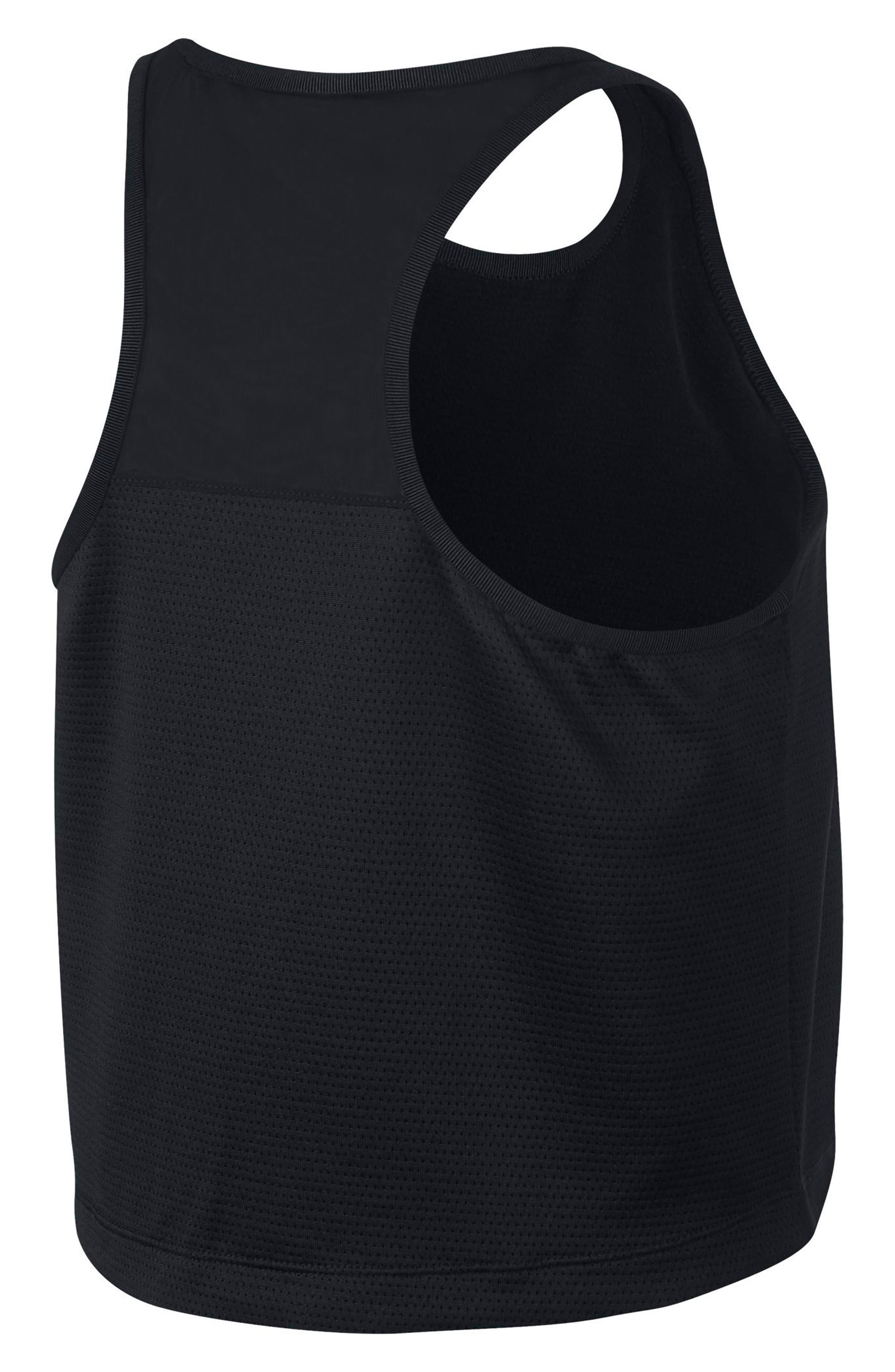 Sportswear Tech Fleece Women's Crop Tank,                             Alternate thumbnail 2, color,                             Black/ Black