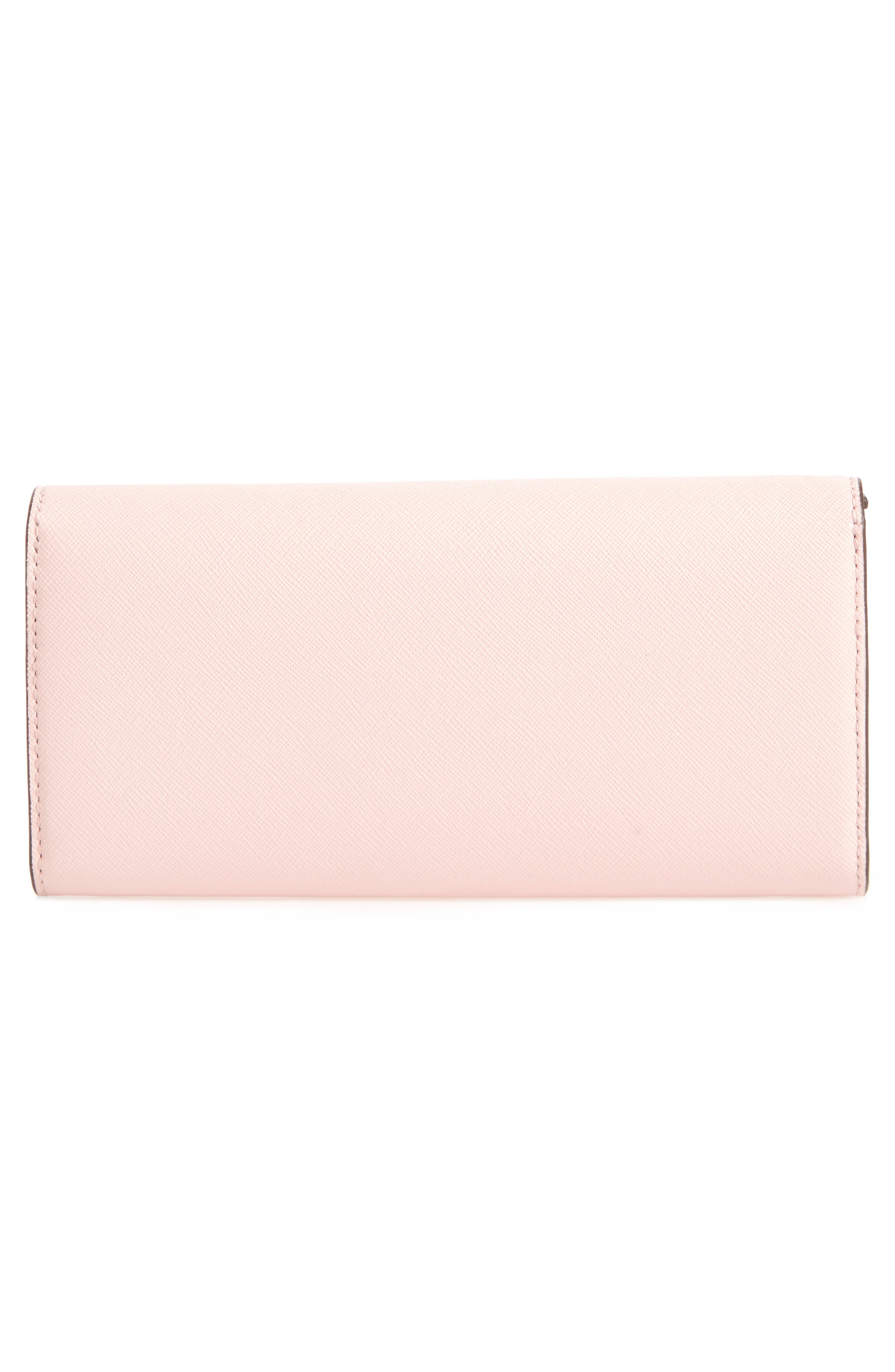 Robinson Envelope Continental Wallet,                             Alternate thumbnail 4, color,                             Pale Apricot / Royal Navy