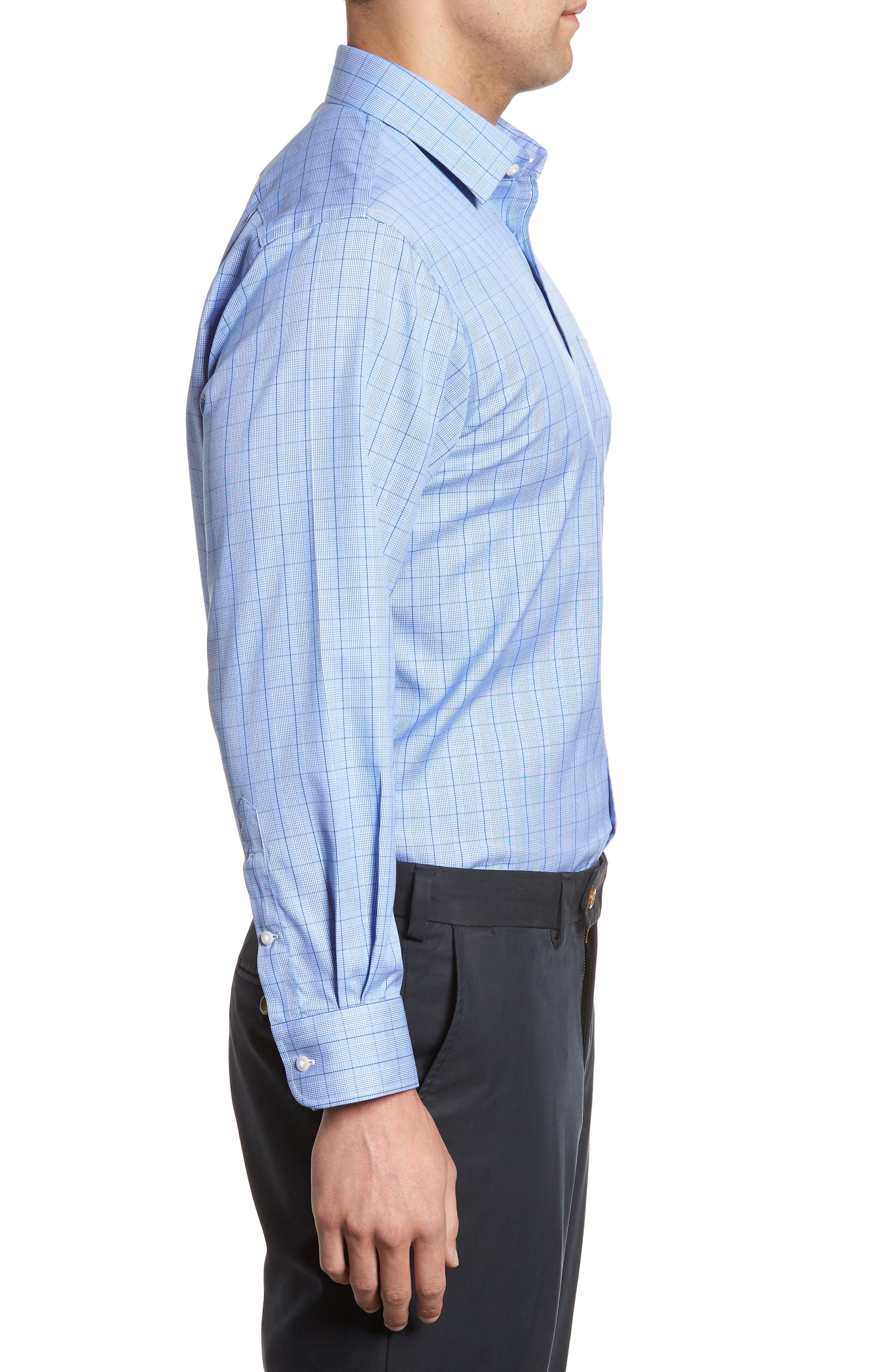 Alternate Image 4  - Nordstrom Men's Shop Smartcare™ Traditional Fit Windowpane Dress Shirt