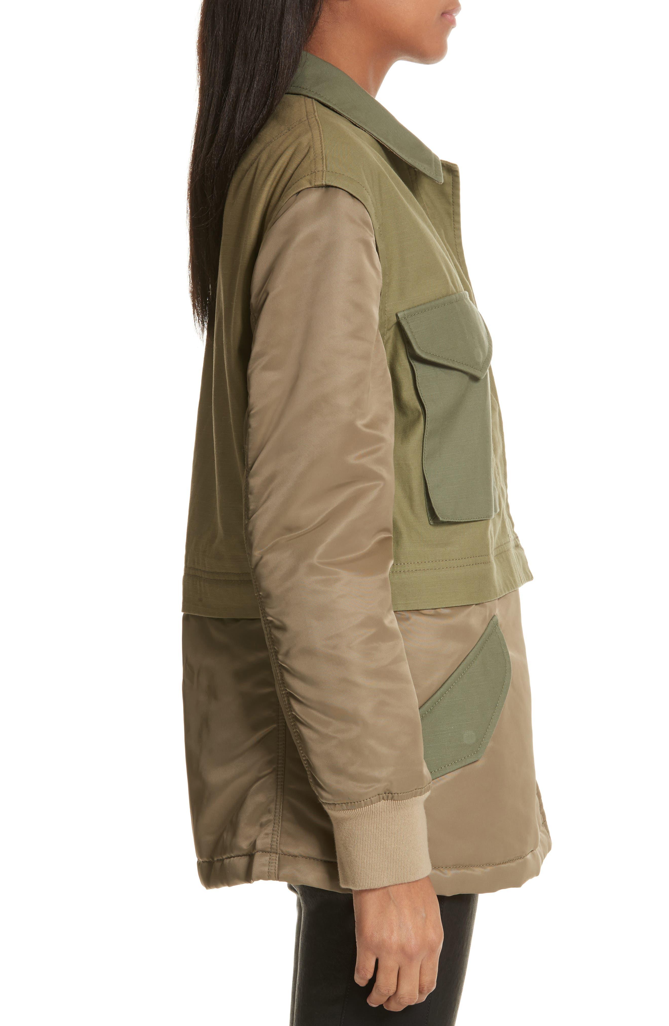 Modular Field Convertible Cotton Jacket,                             Alternate thumbnail 3, color,                             Dark Olive