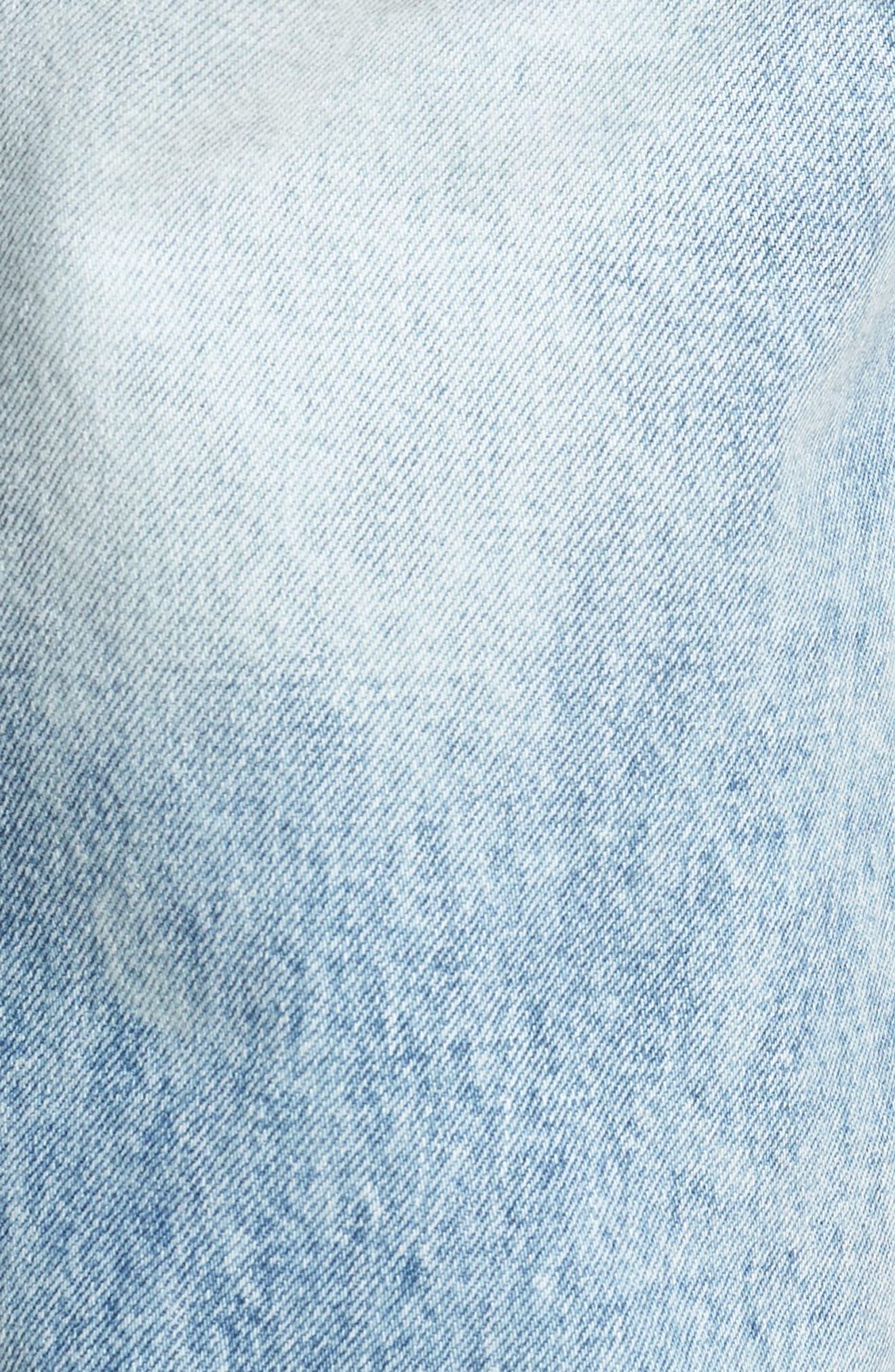 Otis Straight Leg Jeans,                             Alternate thumbnail 5, color,                             Light Blue Wash