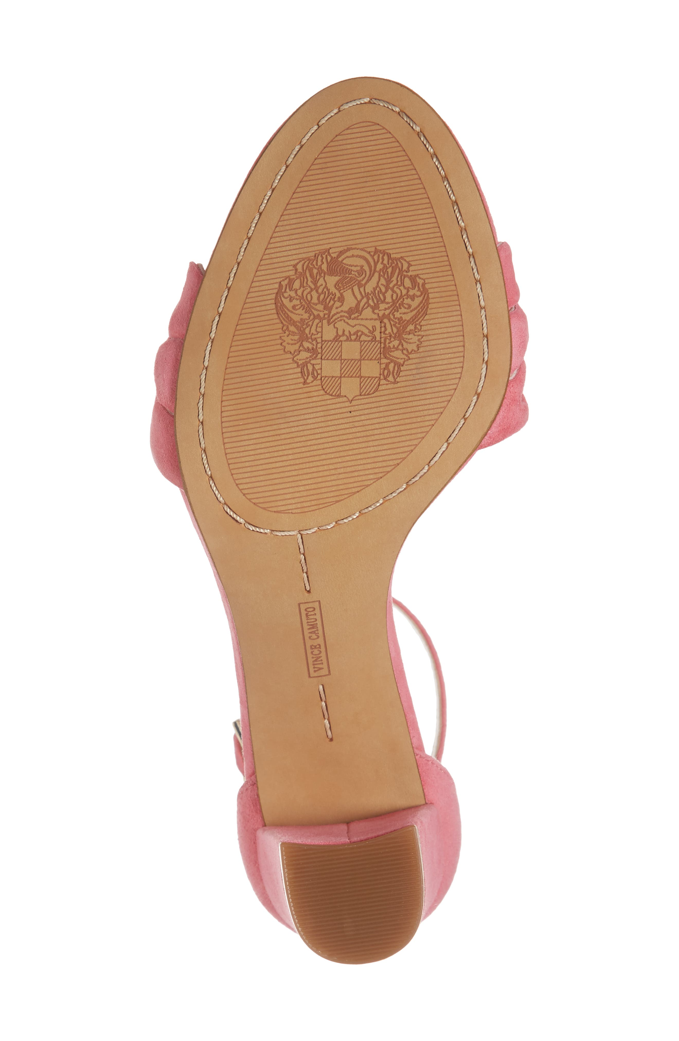 Caveena Block Heel Sandal,                             Alternate thumbnail 6, color,                             Soft Pink Suede
