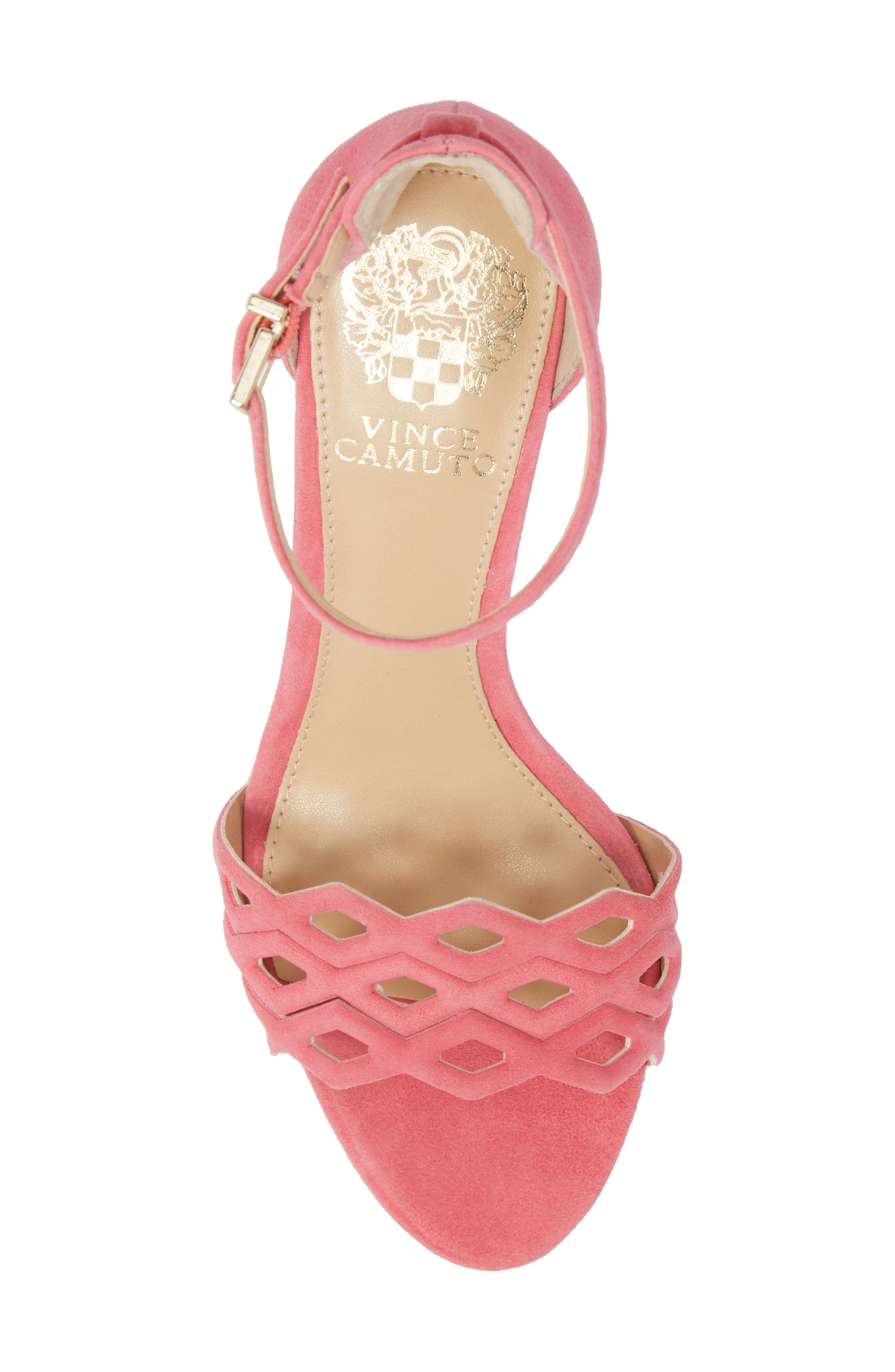 Caveena Block Heel Sandal,                             Alternate thumbnail 5, color,                             Soft Pink Suede