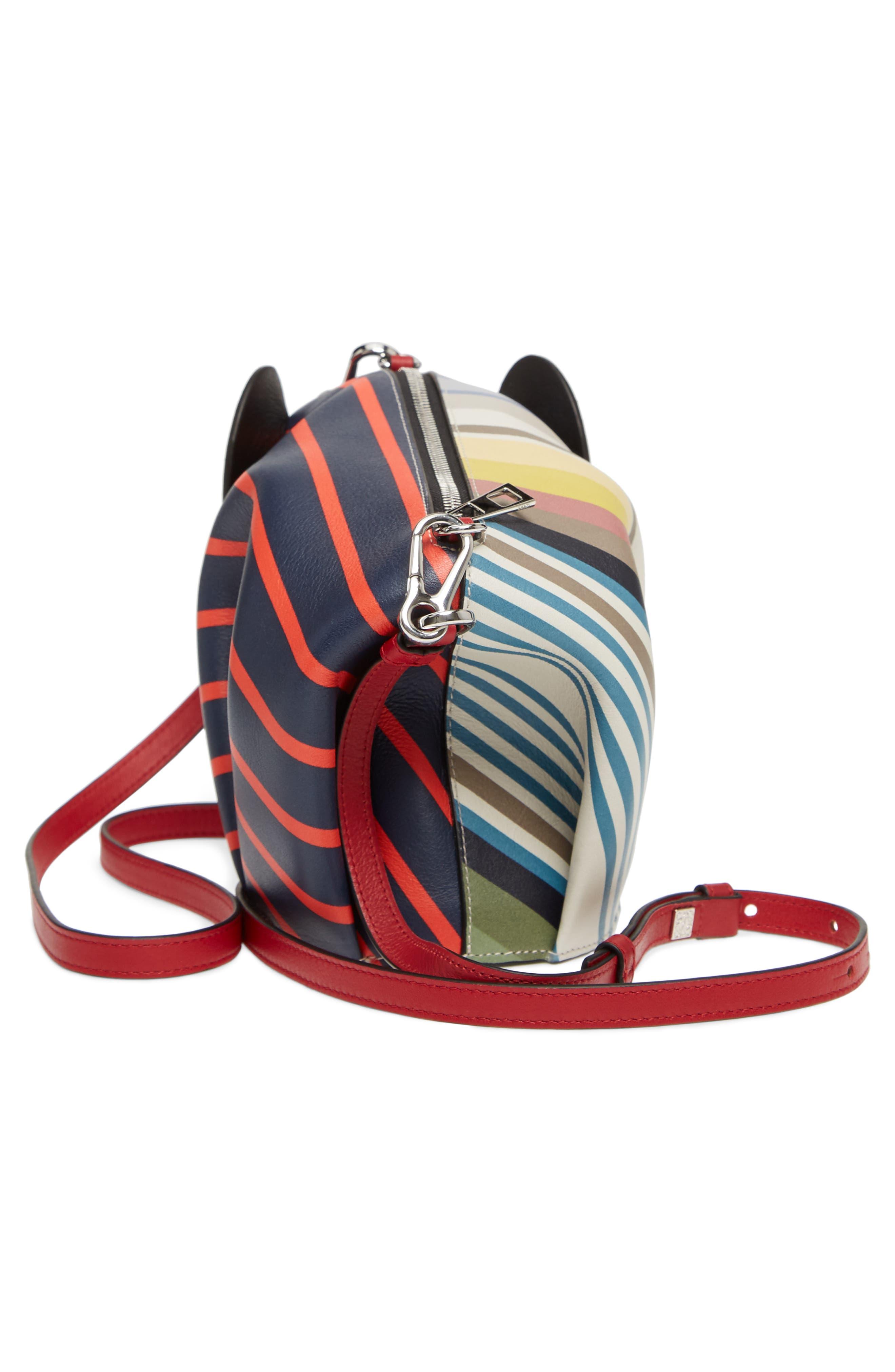 Mini Elephant Calfskin Leather Crossbody Bag,                             Alternate thumbnail 5, color,                             Multicolour