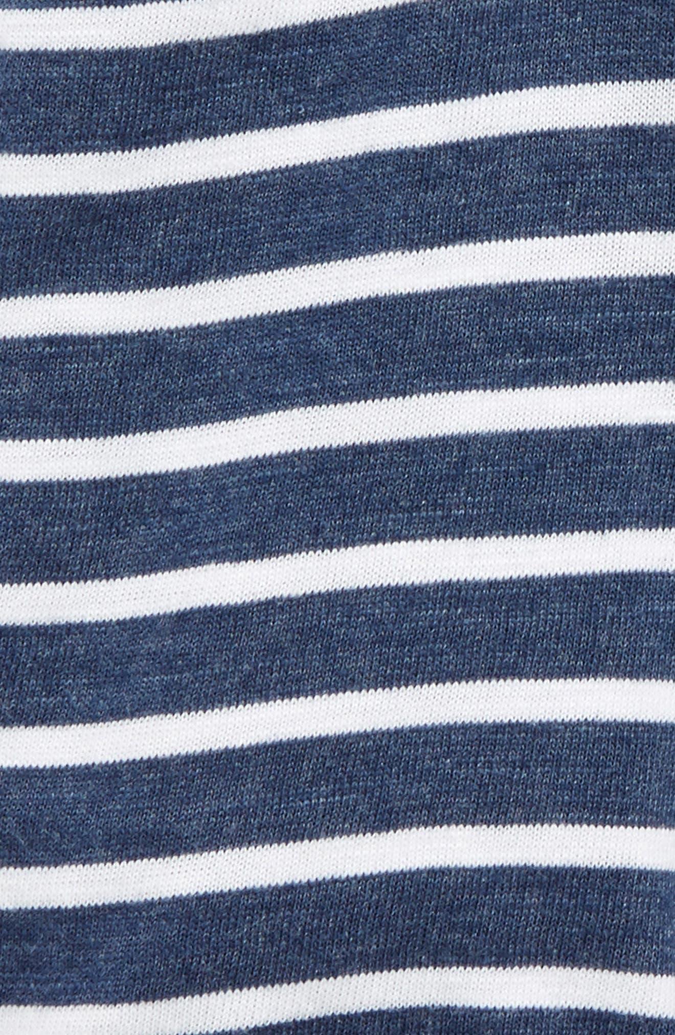 Stripe Shorts,                             Alternate thumbnail 2, color,                             Navy Striped