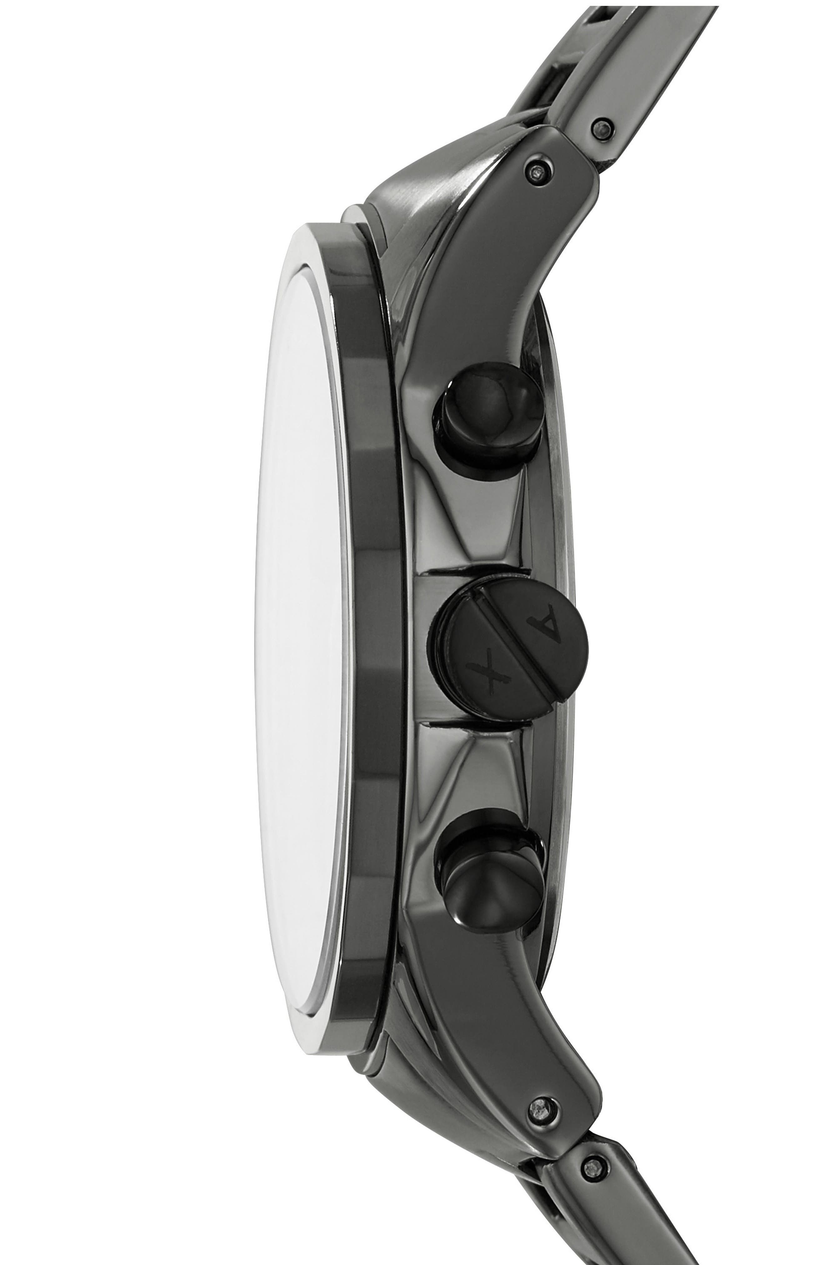 Chronograph Bracelet Watch, 44mm,                             Alternate thumbnail 2, color,                             Gunmetal/ Gunmetal