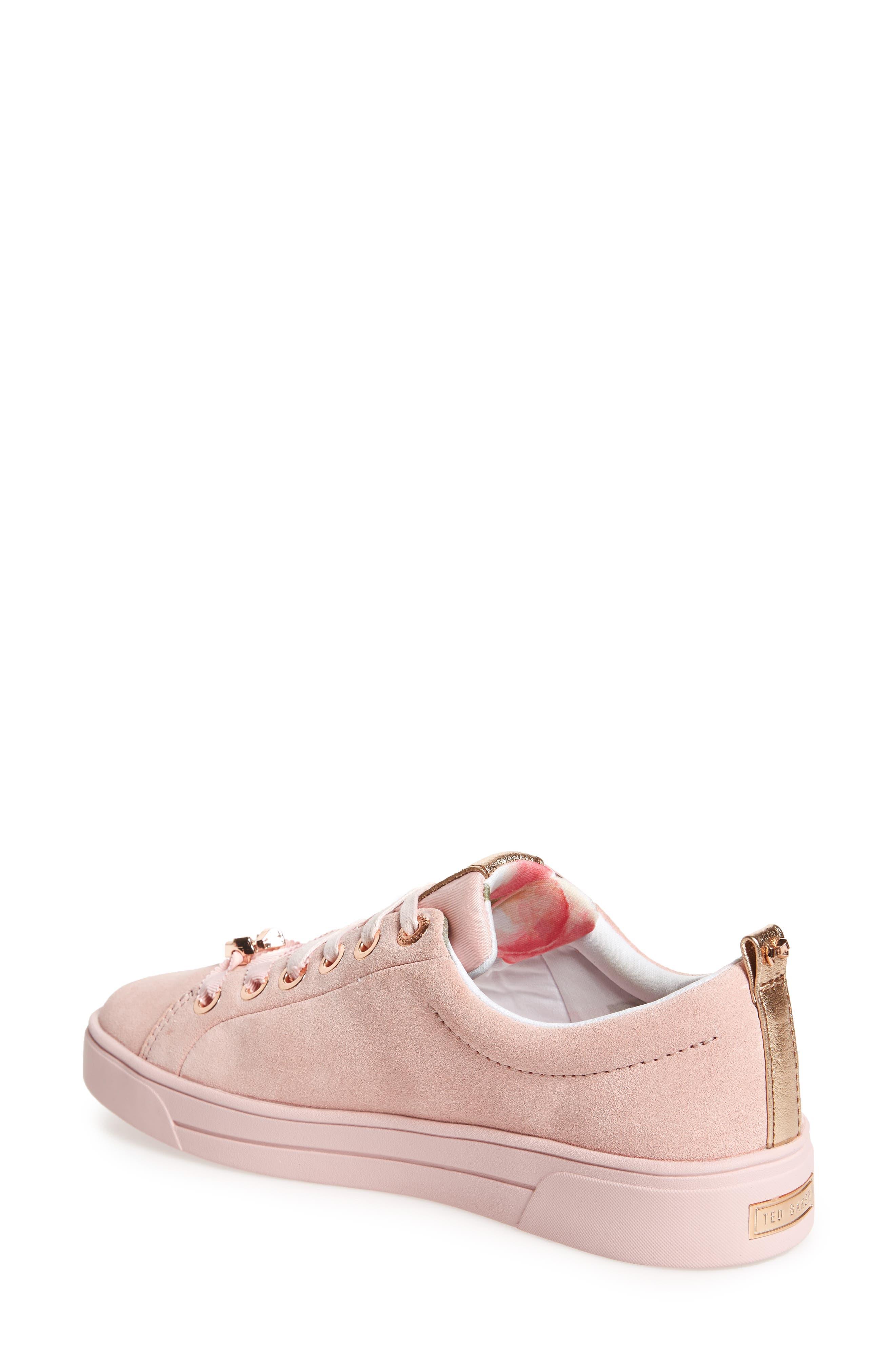 Kelleip Sneaker,                             Alternate thumbnail 2, color,                             Mink Pink Suede