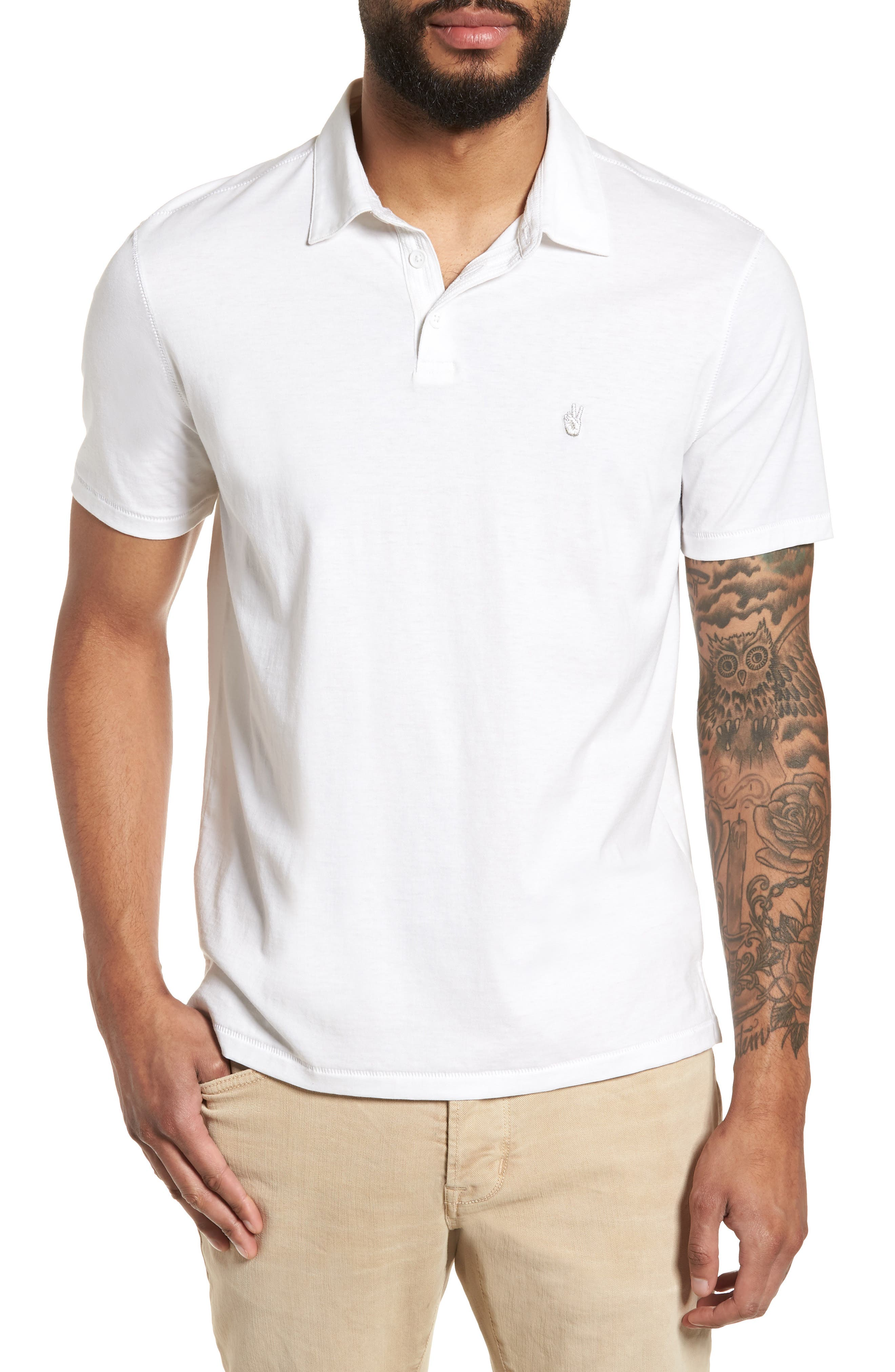 John Varvatos Star USA Peace Slim Fit Pima Cotton Polo