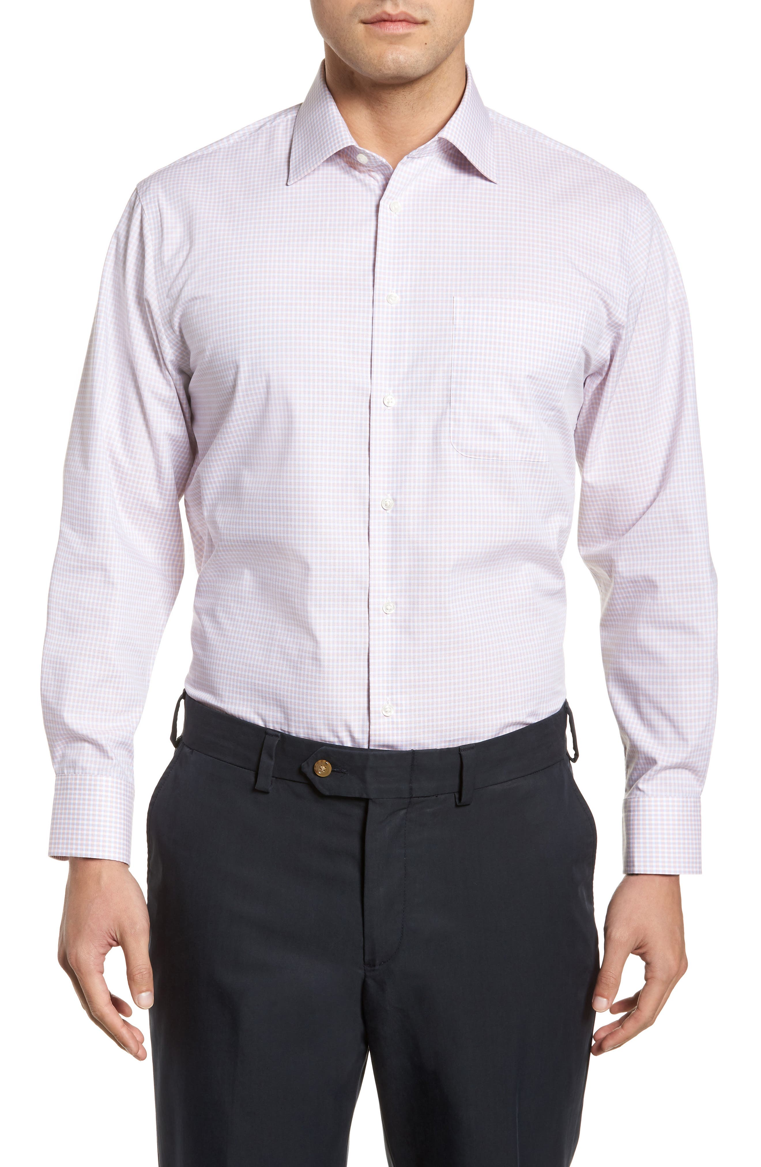 Alternate Image 1 Selected - Nordstrom Men's Shop Traditional Fit Non-Iron Check Dress Shirt