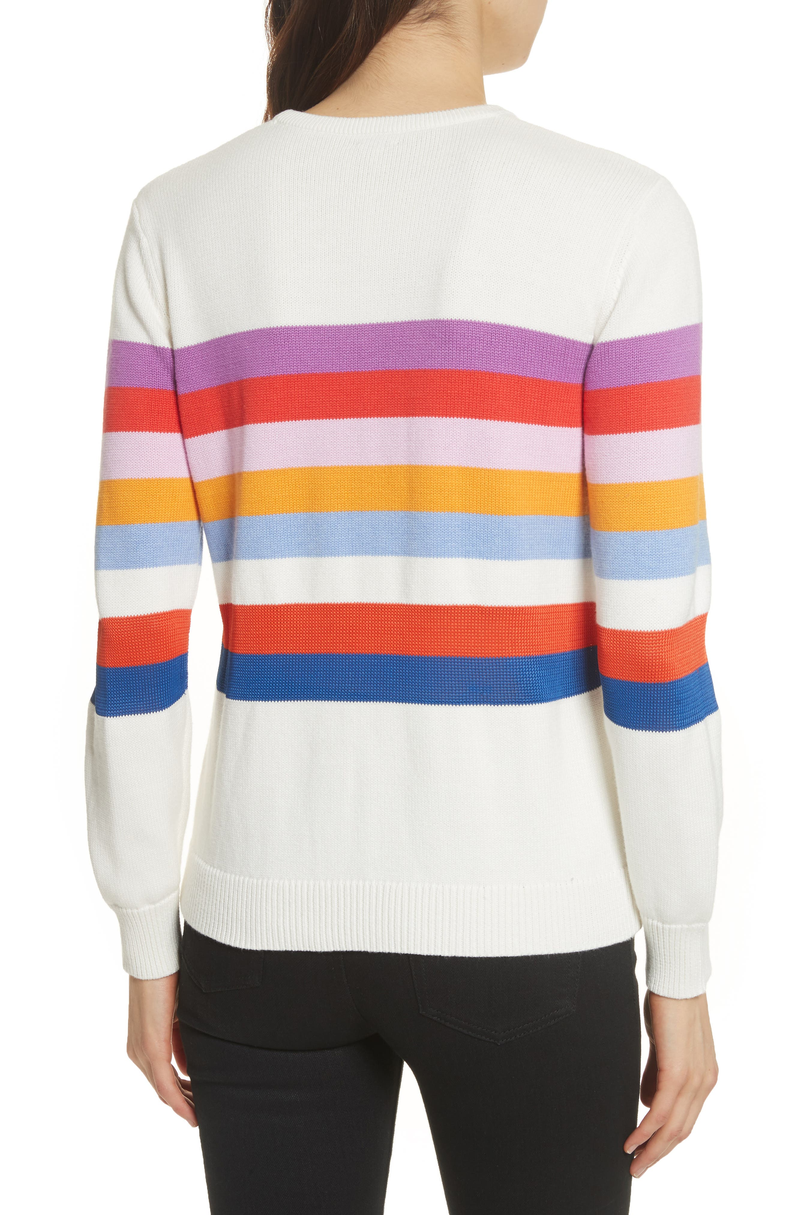 The Day Trip Stripe Sweater,                             Alternate thumbnail 2, color,                             Cream Multi