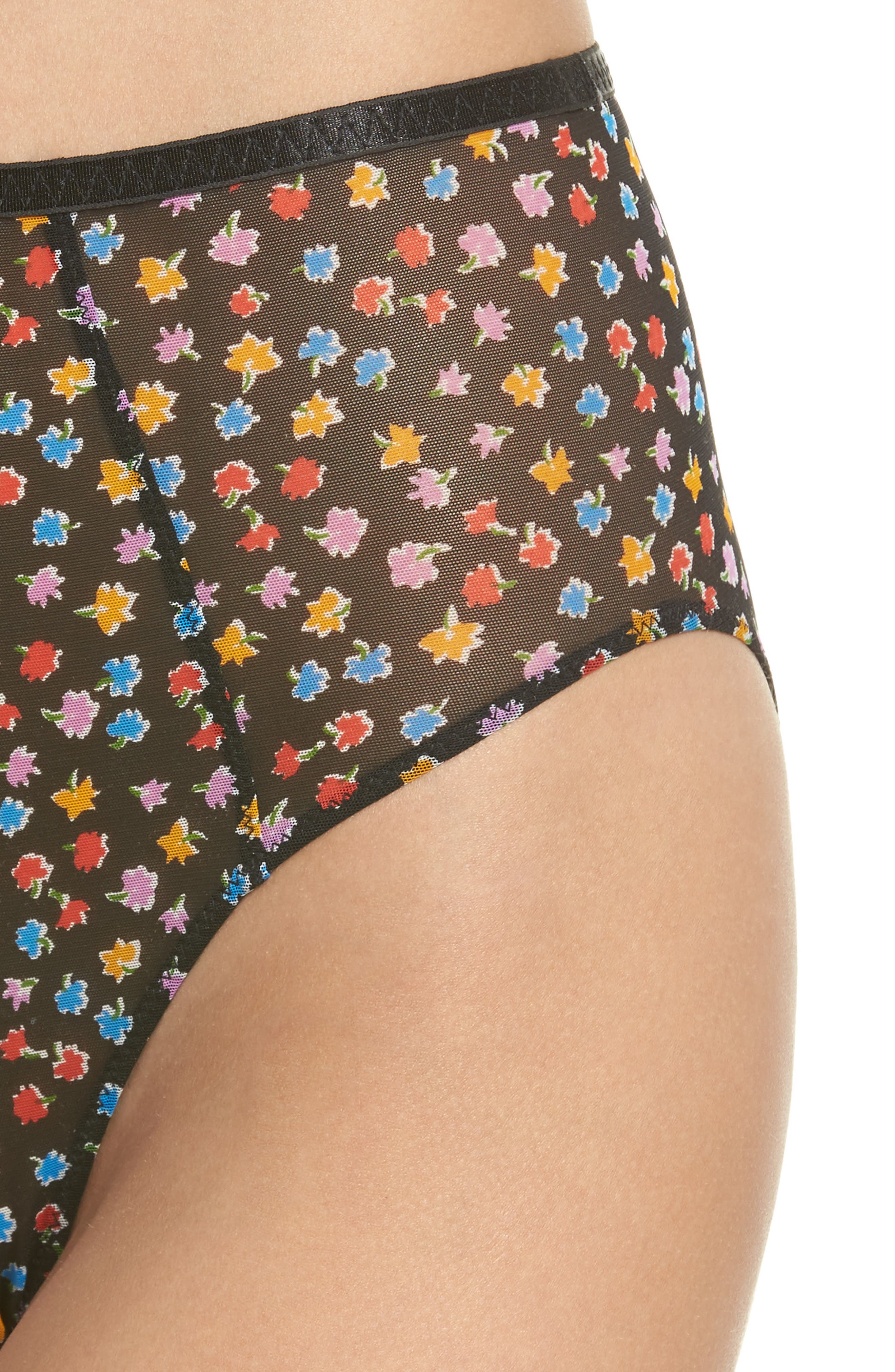 Intimately FP Capri High Waist Panties,                             Alternate thumbnail 7, color,                             Black Combo