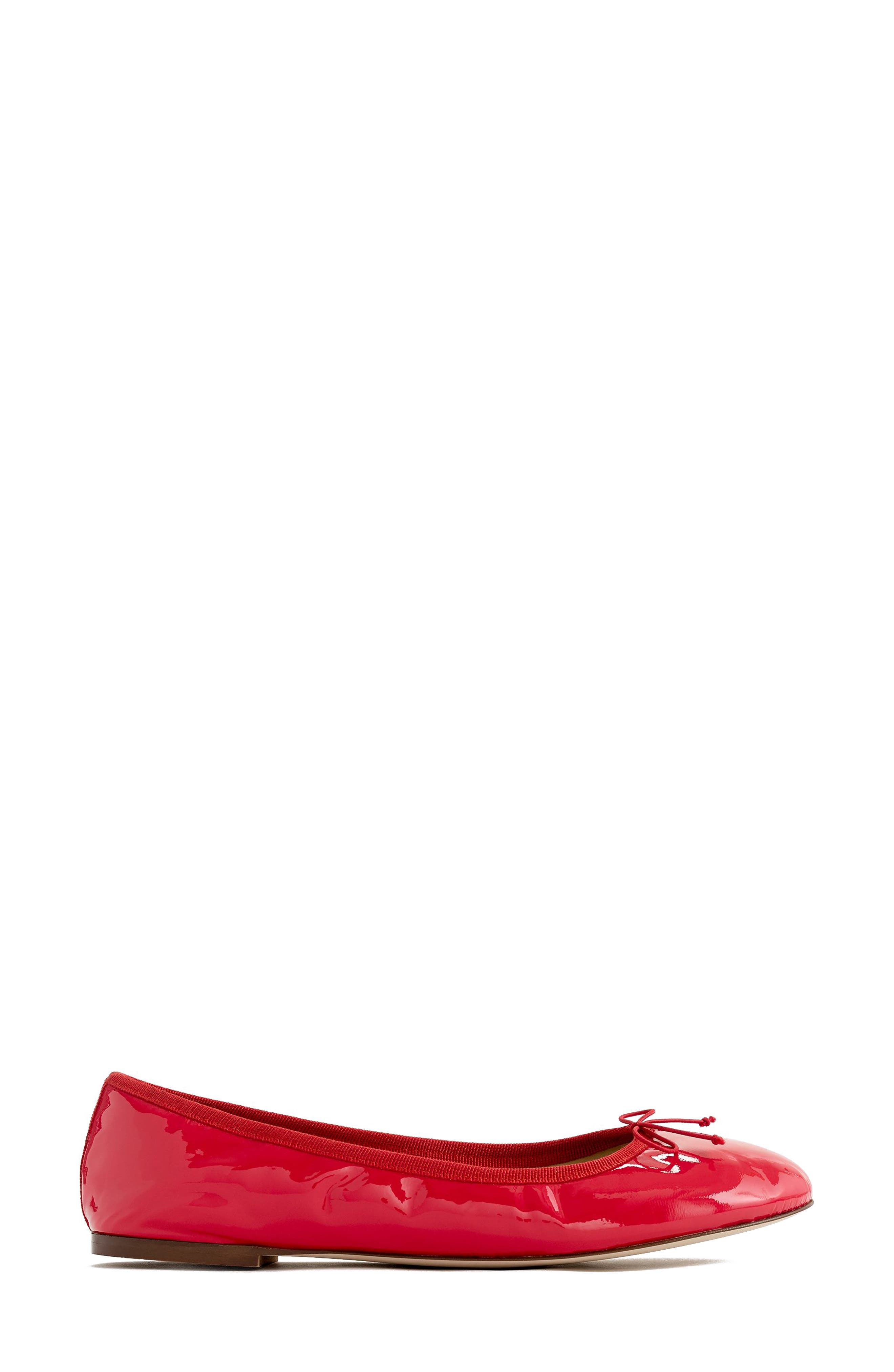 J.Crew Evie Ballet Flat,                             Alternate thumbnail 2, color,                             Providence Red Leather