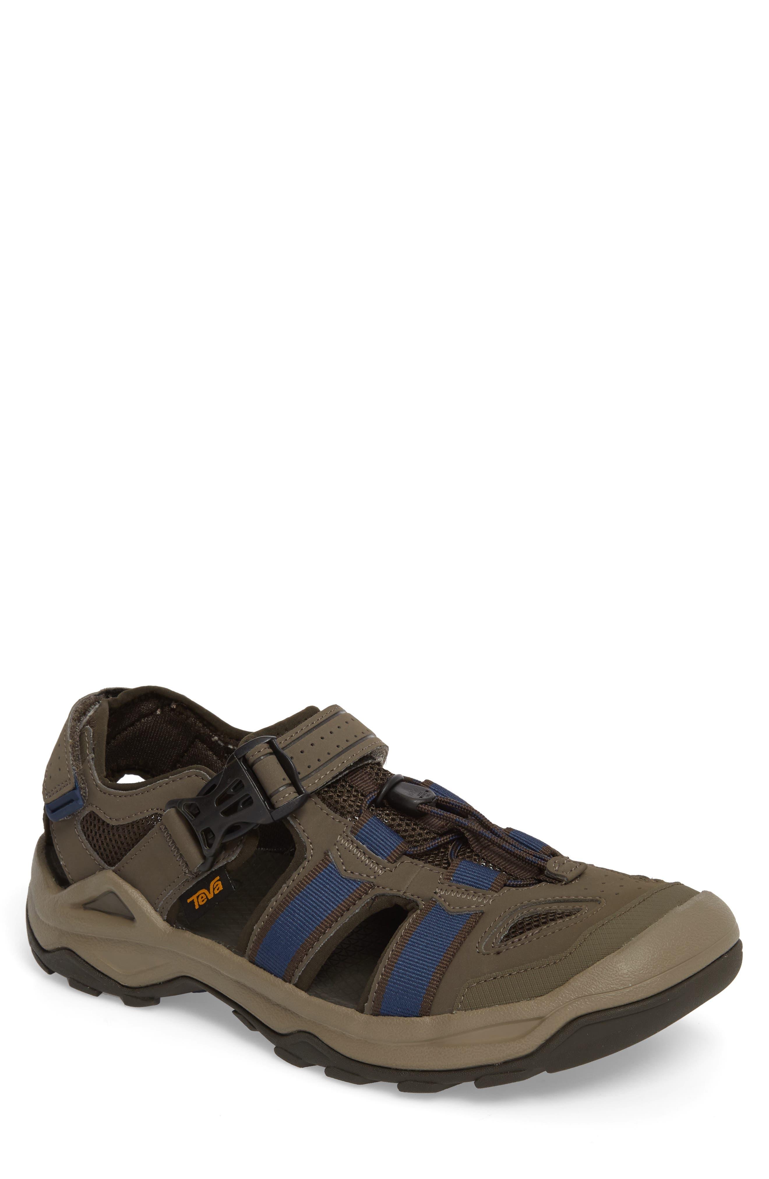Omnium 2 Hiking Sandal,                             Main thumbnail 1, color,                             Brown Nylon