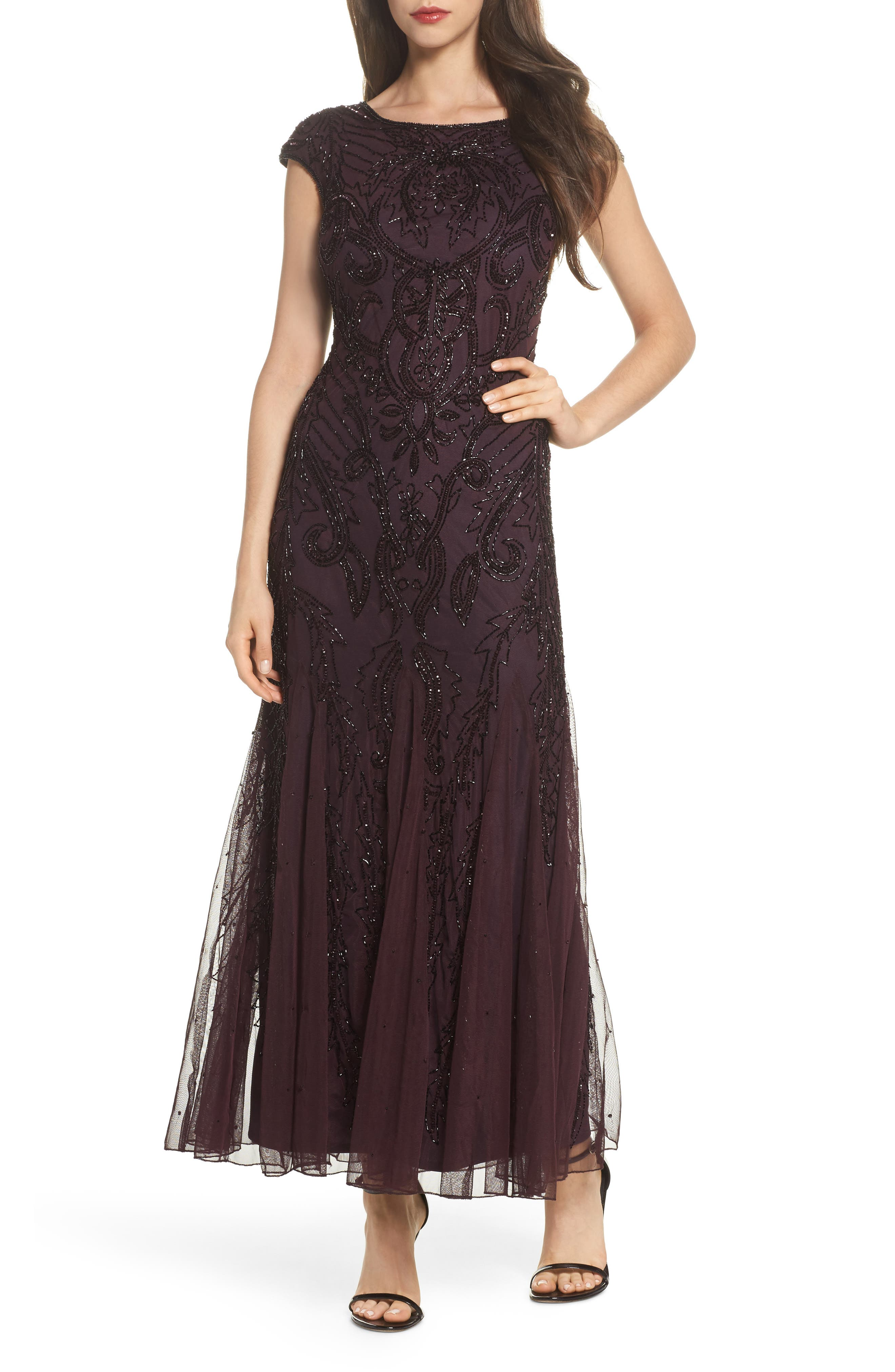 Pisarro Nights Embellished A-Line Gown (Regular & Petite)