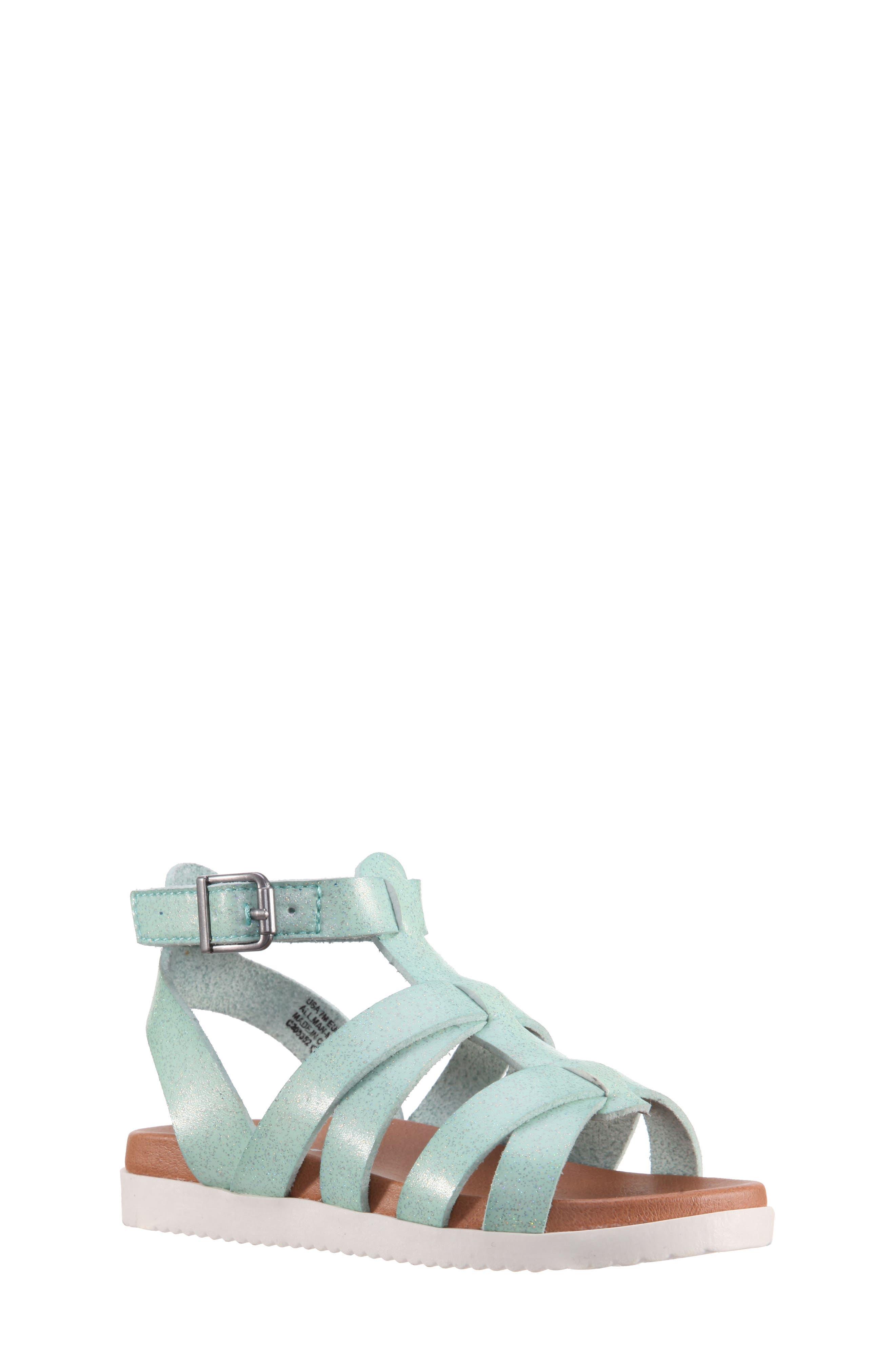 Alpha Gladiator Sandal,                             Main thumbnail 1, color,                             Mint Dip Dye