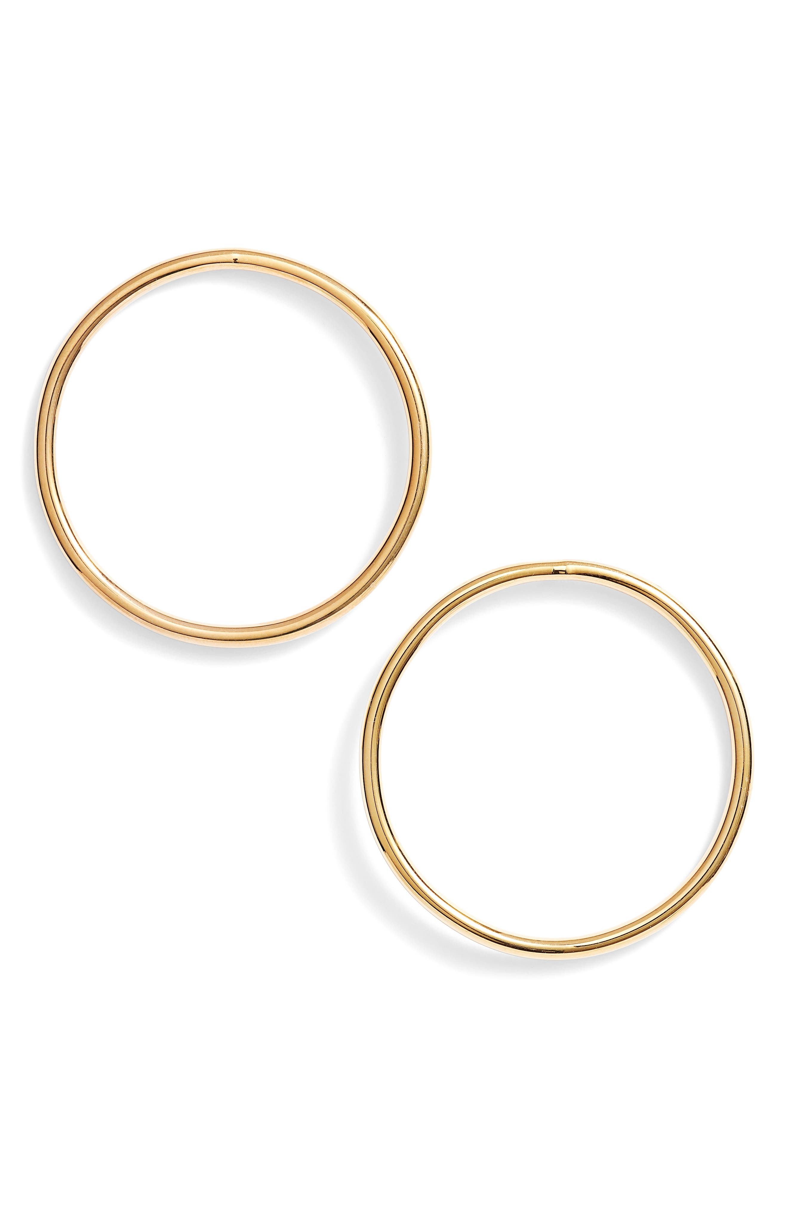 Valentino Valentino Woman Gold-tone Hoop Earrings Gold Size FtHQxsbzu